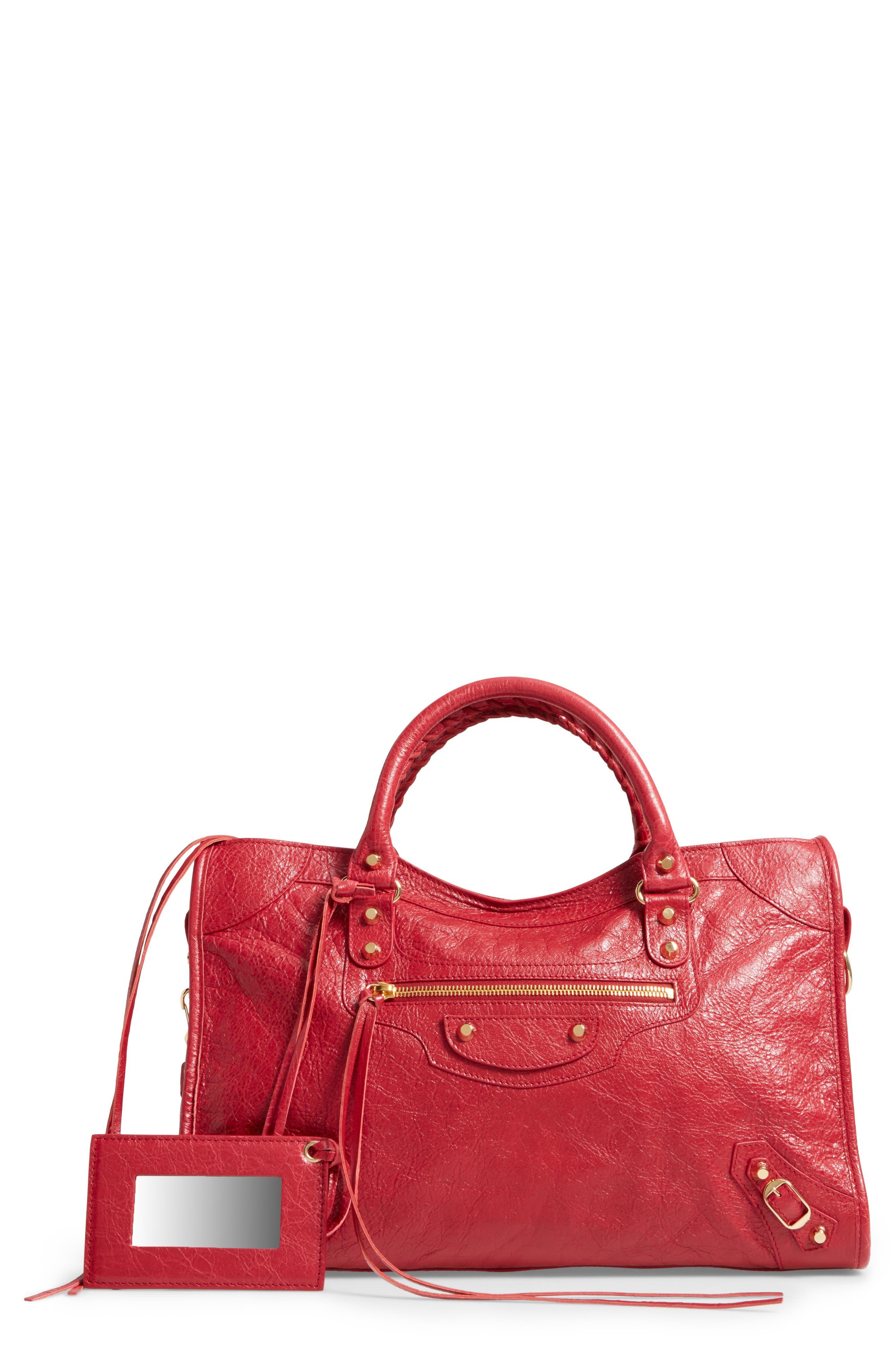 Classic City Bag,                         Main,                         color, 6270 Rouge Saffron/Dk Sang
