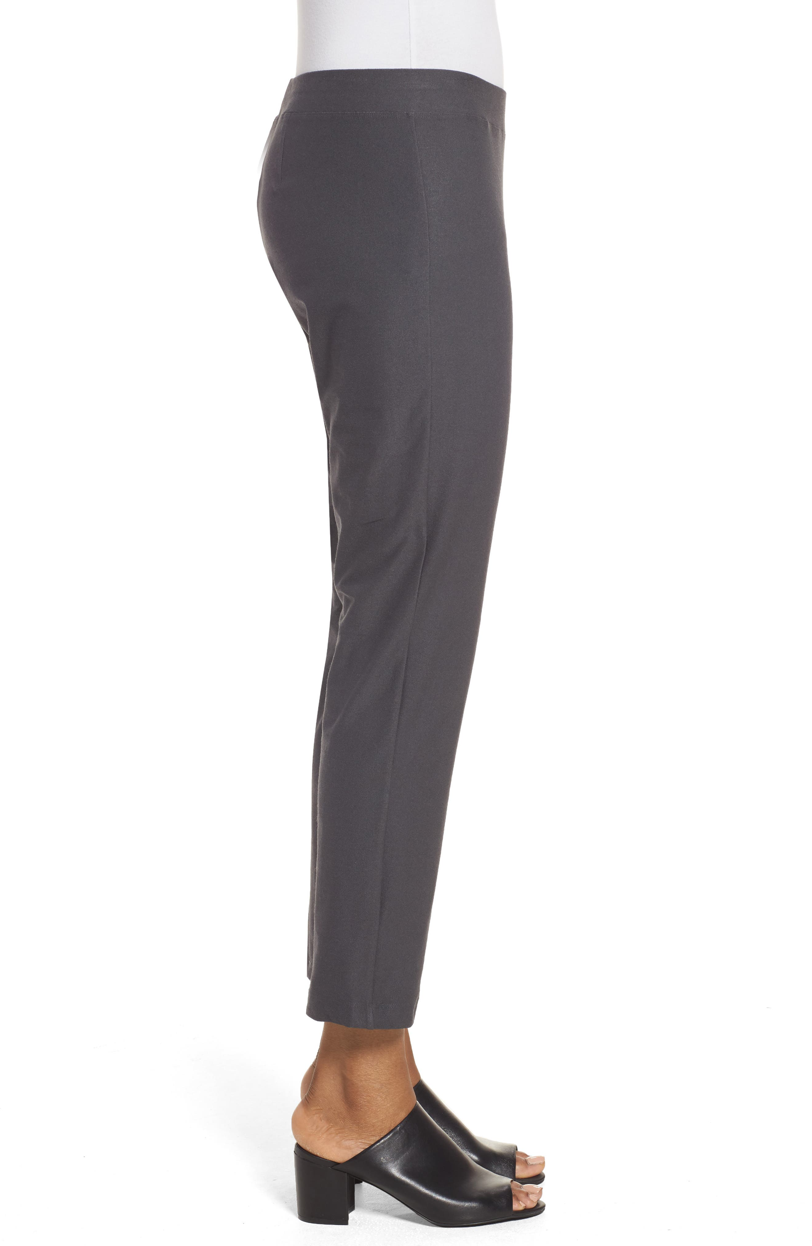 Alternate Image 3  - Eileen Fisher Stretch Crepe Slim Ankle Pants (Regular & Petite)