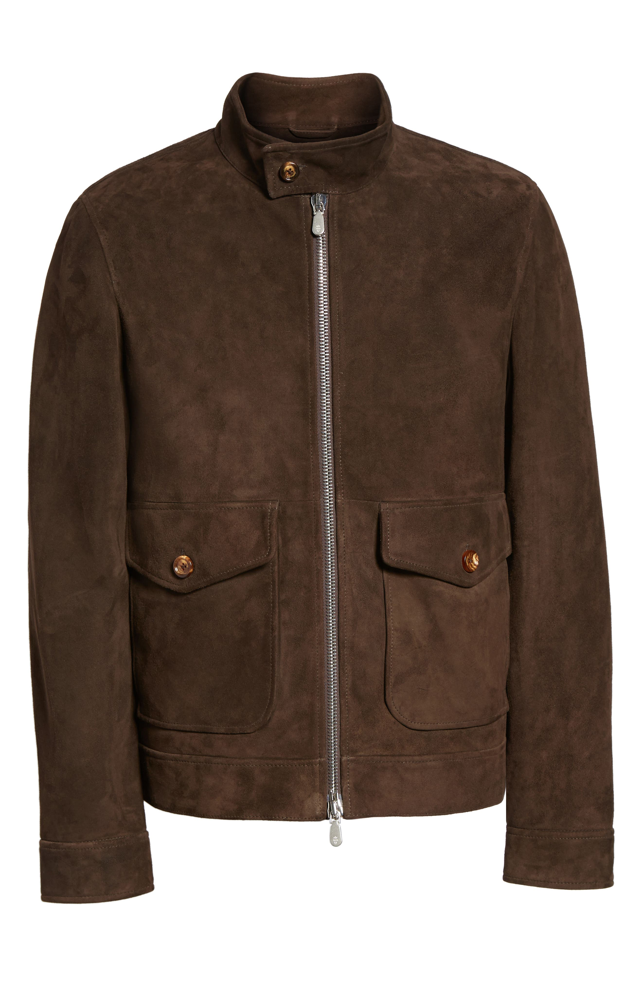Suede Jacket,                             Alternate thumbnail 7, color,                             Chocolate Brown