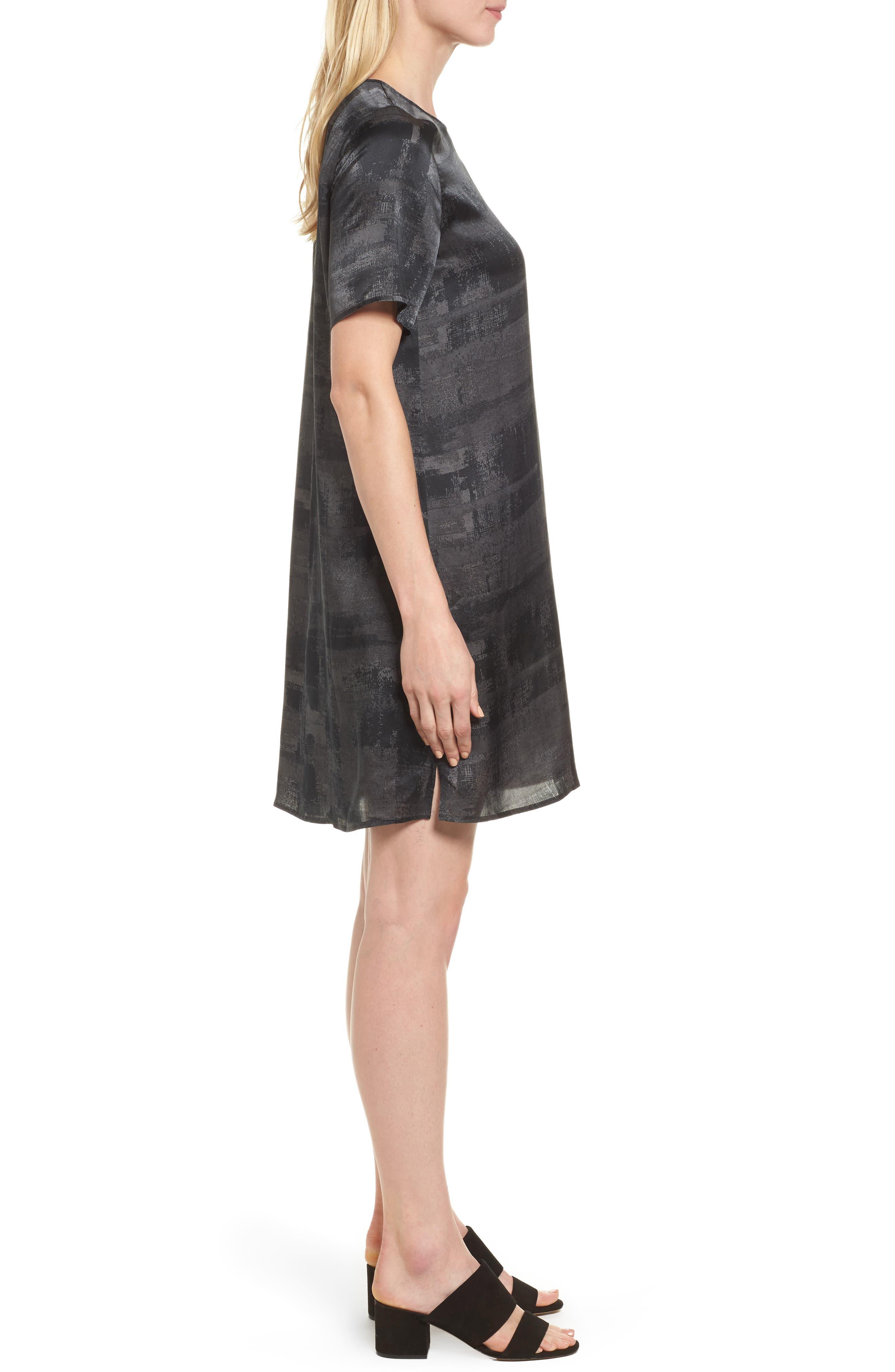 Alternate Image 3  - Eileen Fisher Print Silk Shift Dress