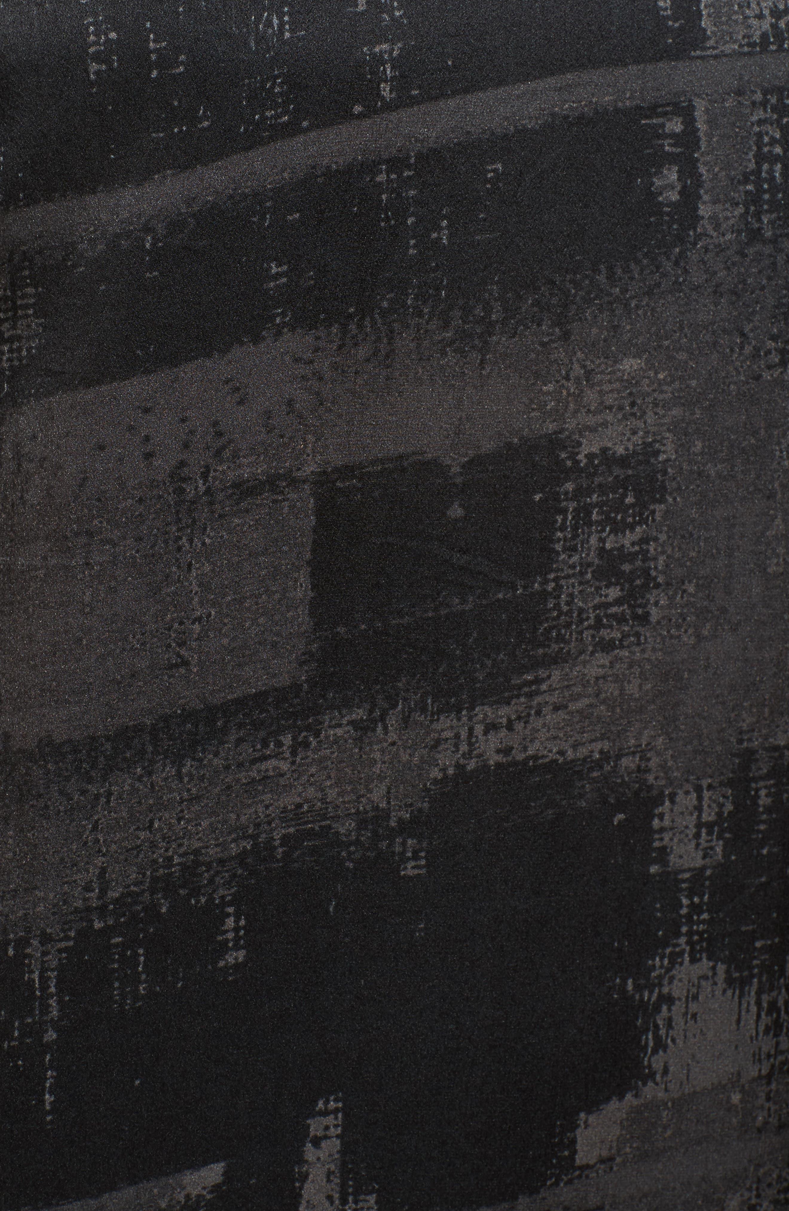 Alternate Image 5  - Eileen Fisher Print Silk Shift Dress