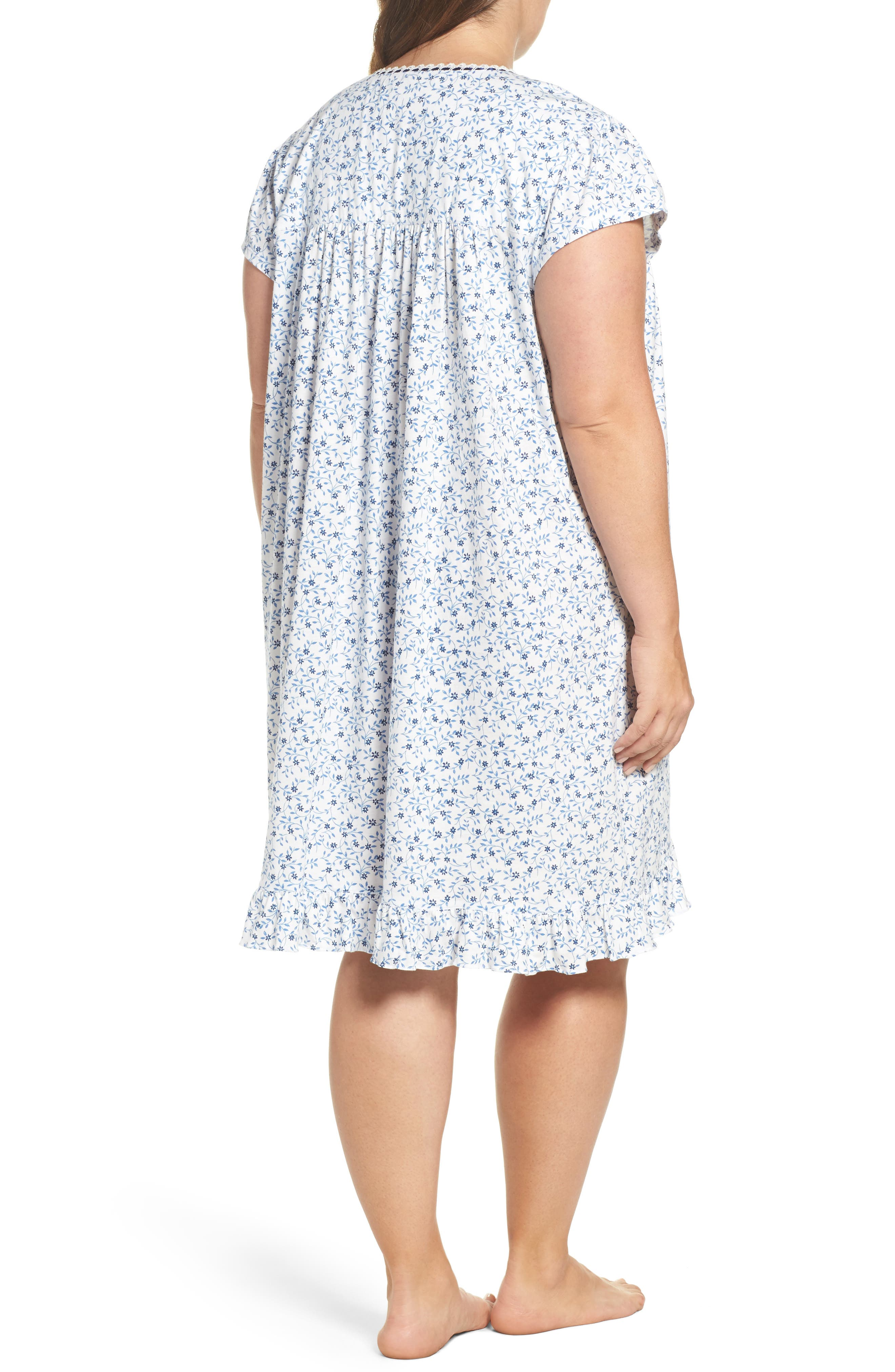 Short Nightgown,                             Alternate thumbnail 2, color,                             Blue