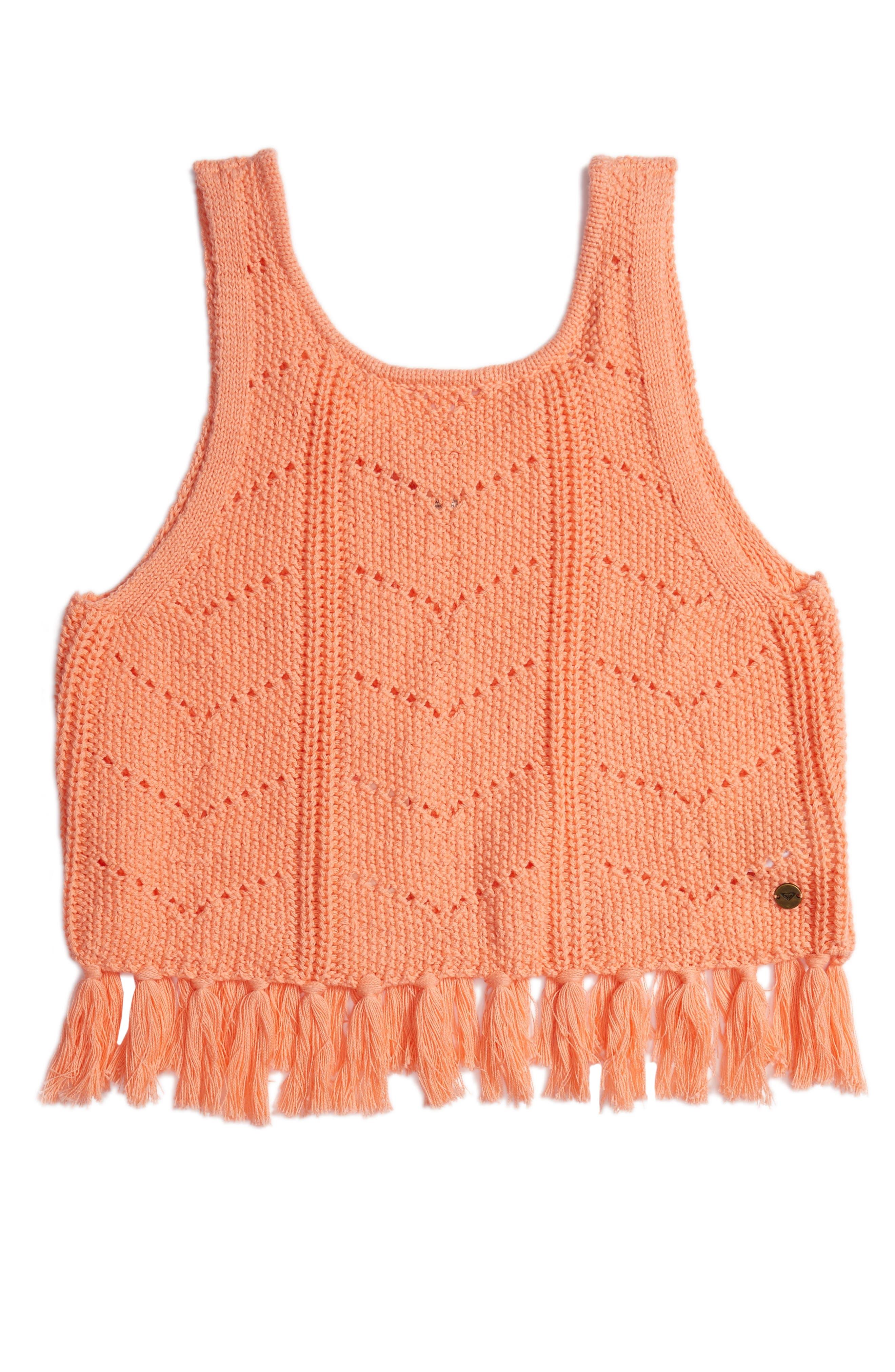 Set Them Free Knit Tassel Tank,                             Main thumbnail 1, color,                             Desert Flower