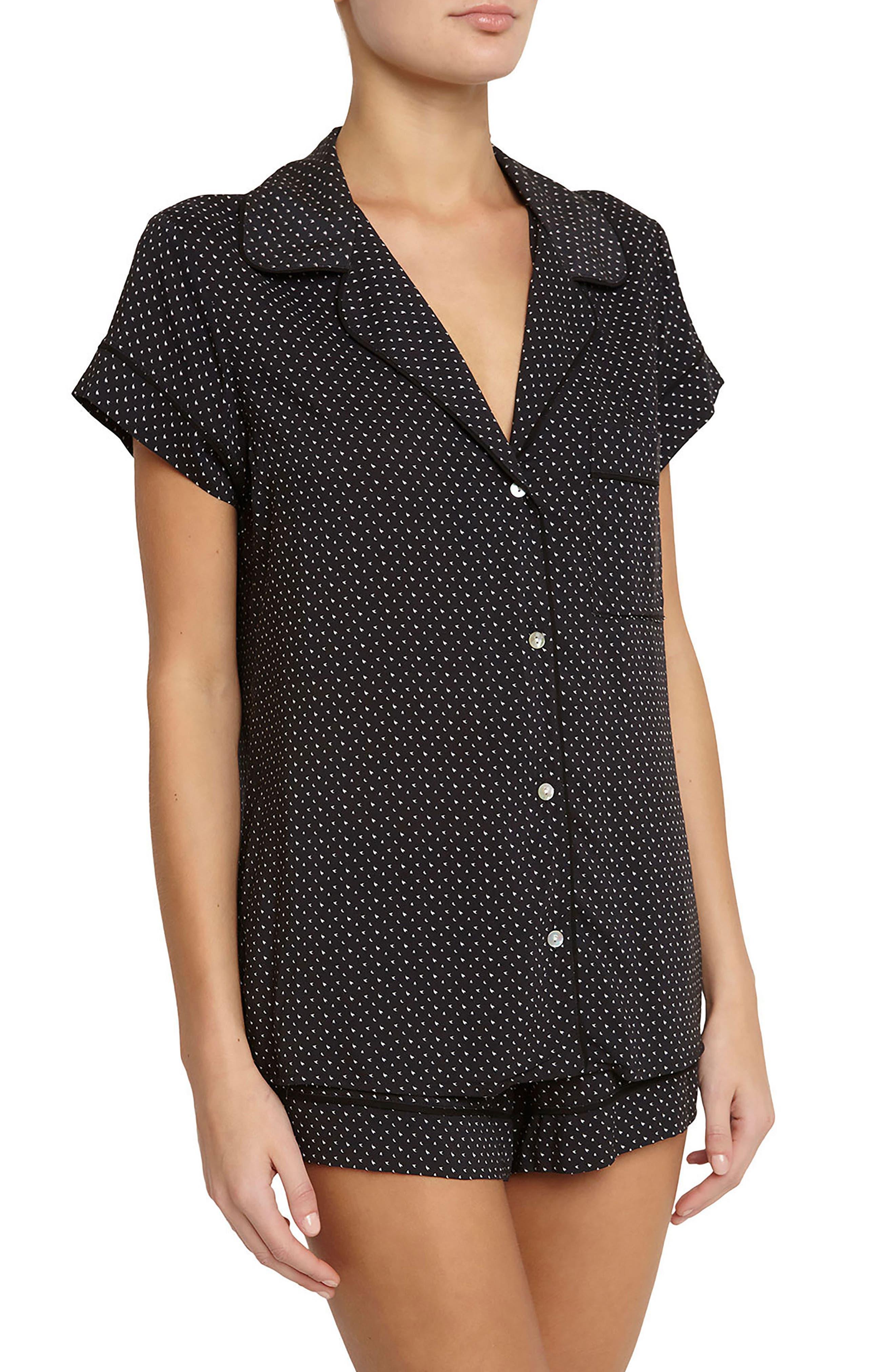 Victoria Short Pajamas,                             Main thumbnail 1, color,                             Wish/ Black