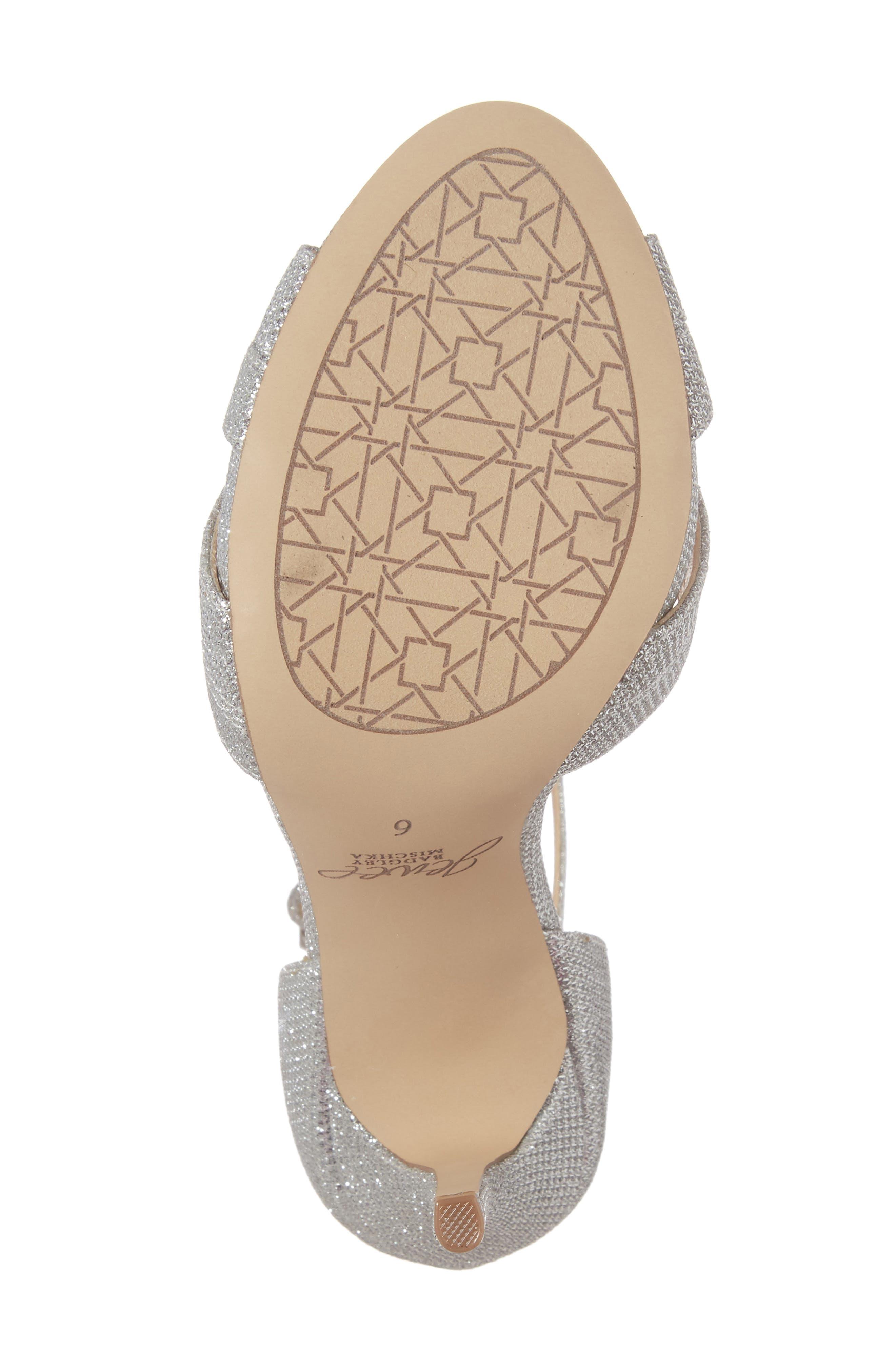 Alternate Image 6  - Jewel Badgley Mischka Loyal Glitter Sandal (Women)