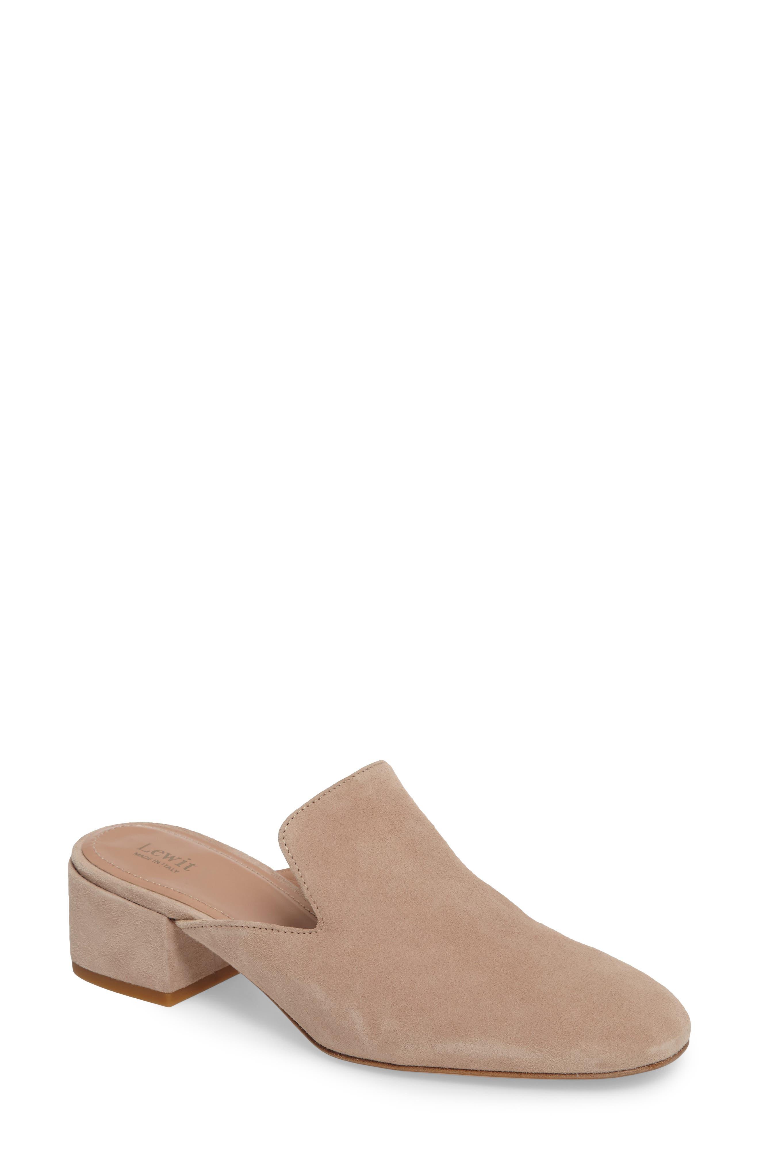 Bianca Block Heel Mule,                         Main,                         color, Blush Suede