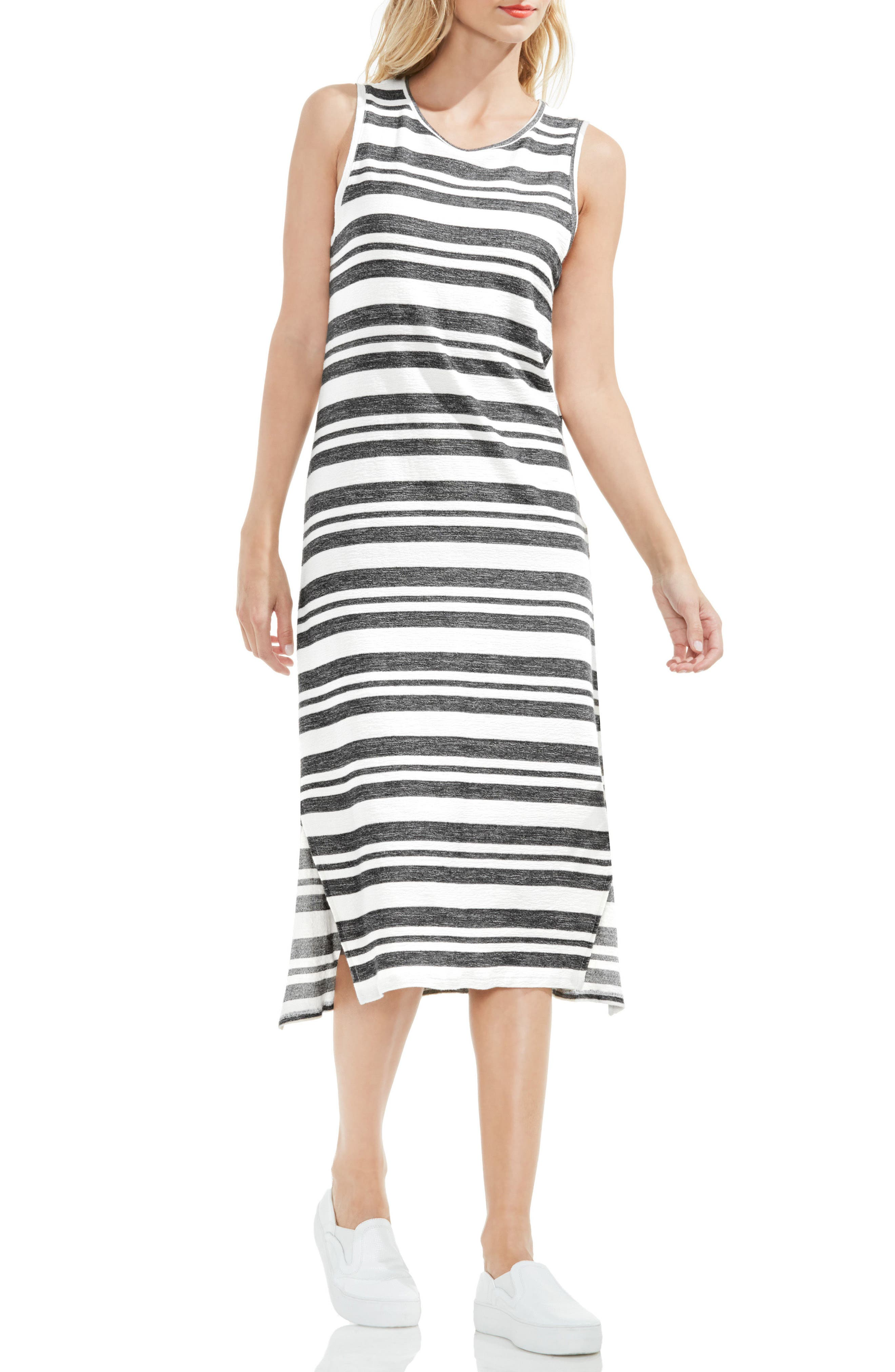 Two by Vince Camuto Jacquard Stripe Tank Dress