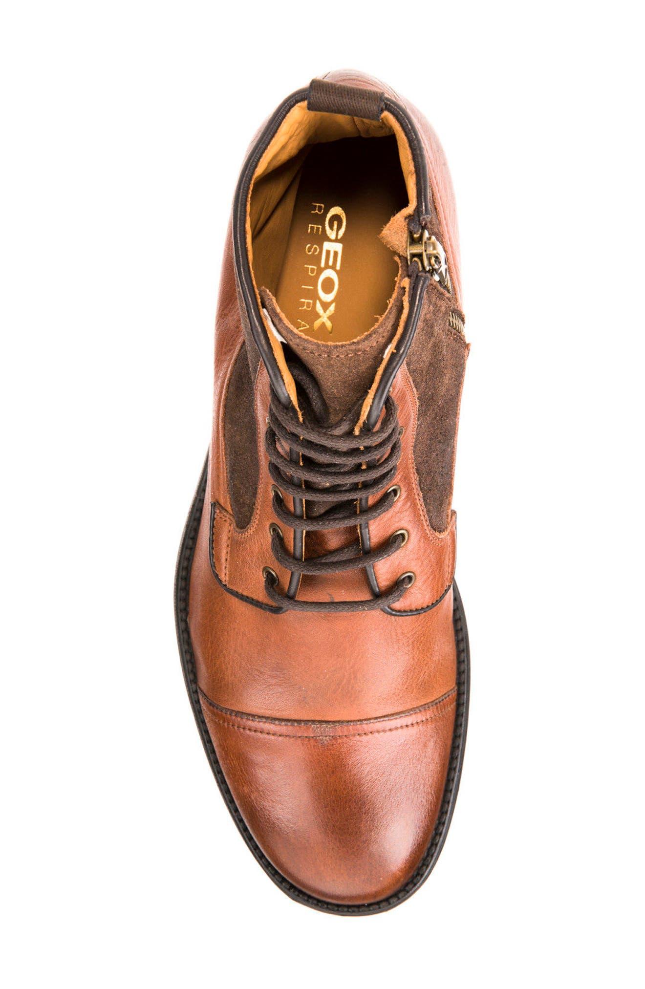 Jaylon 12 Cap-Toe Boot,                             Alternate thumbnail 5, color,                             Ebony