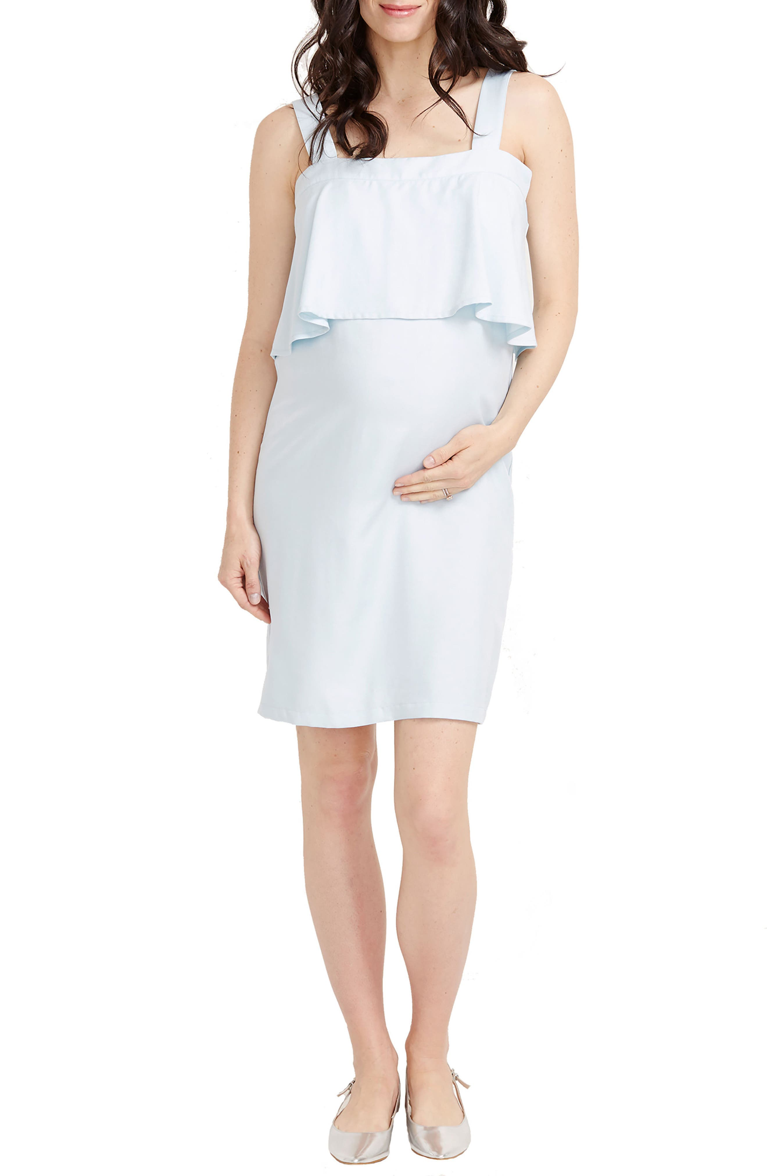 Mia Maternity Dress,                         Main,                         color, Cloud