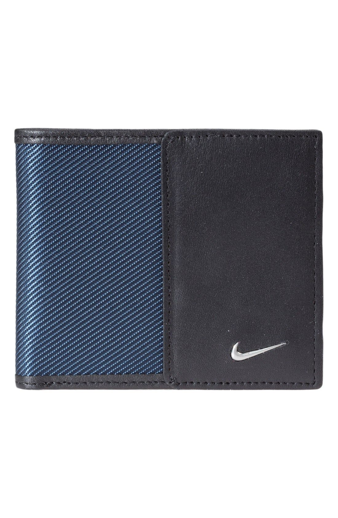 Tech Twill Wallet,                         Main,                         color, Navy