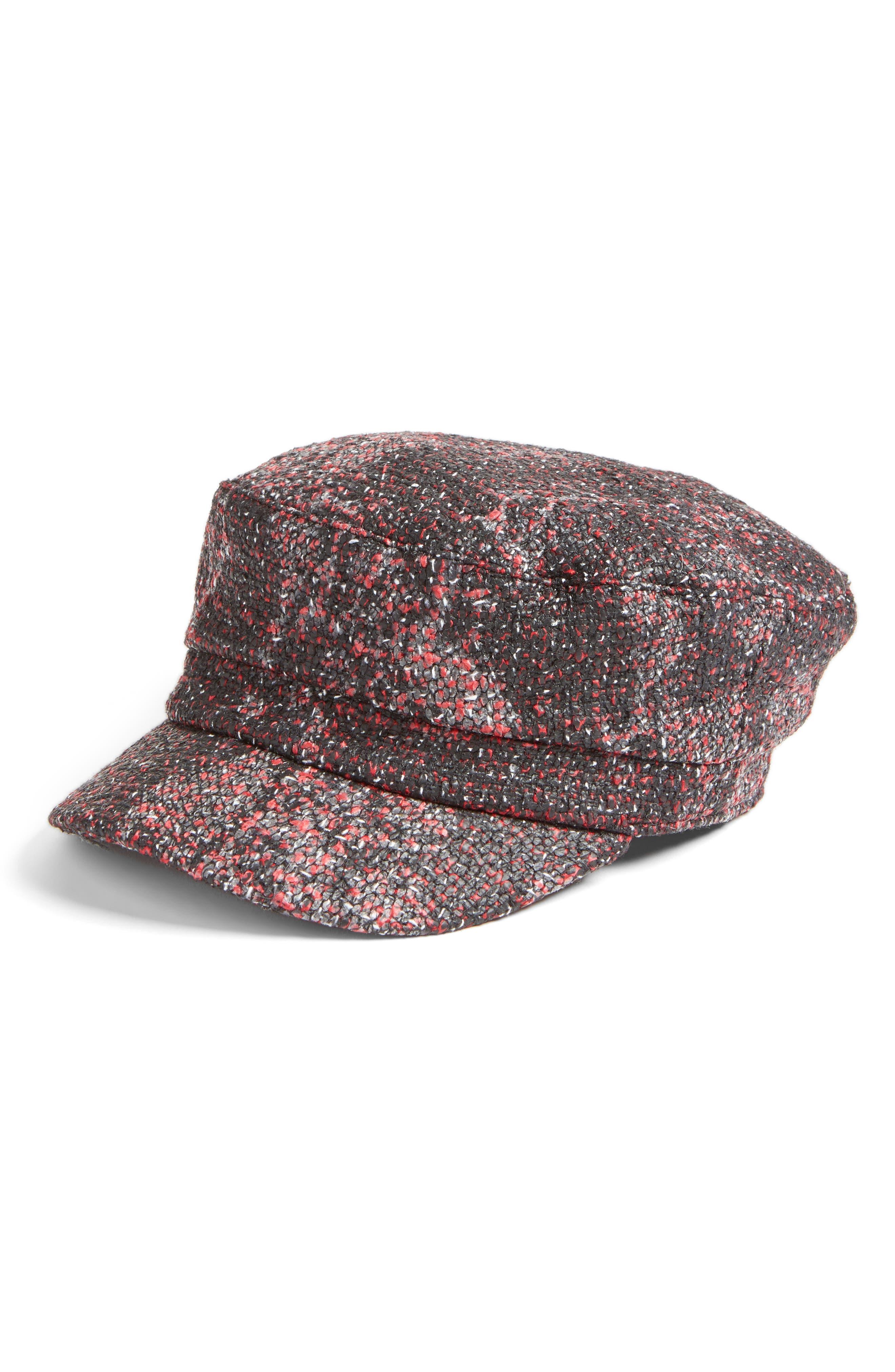 August Hat Coated Bouclé Lieutenant Cap