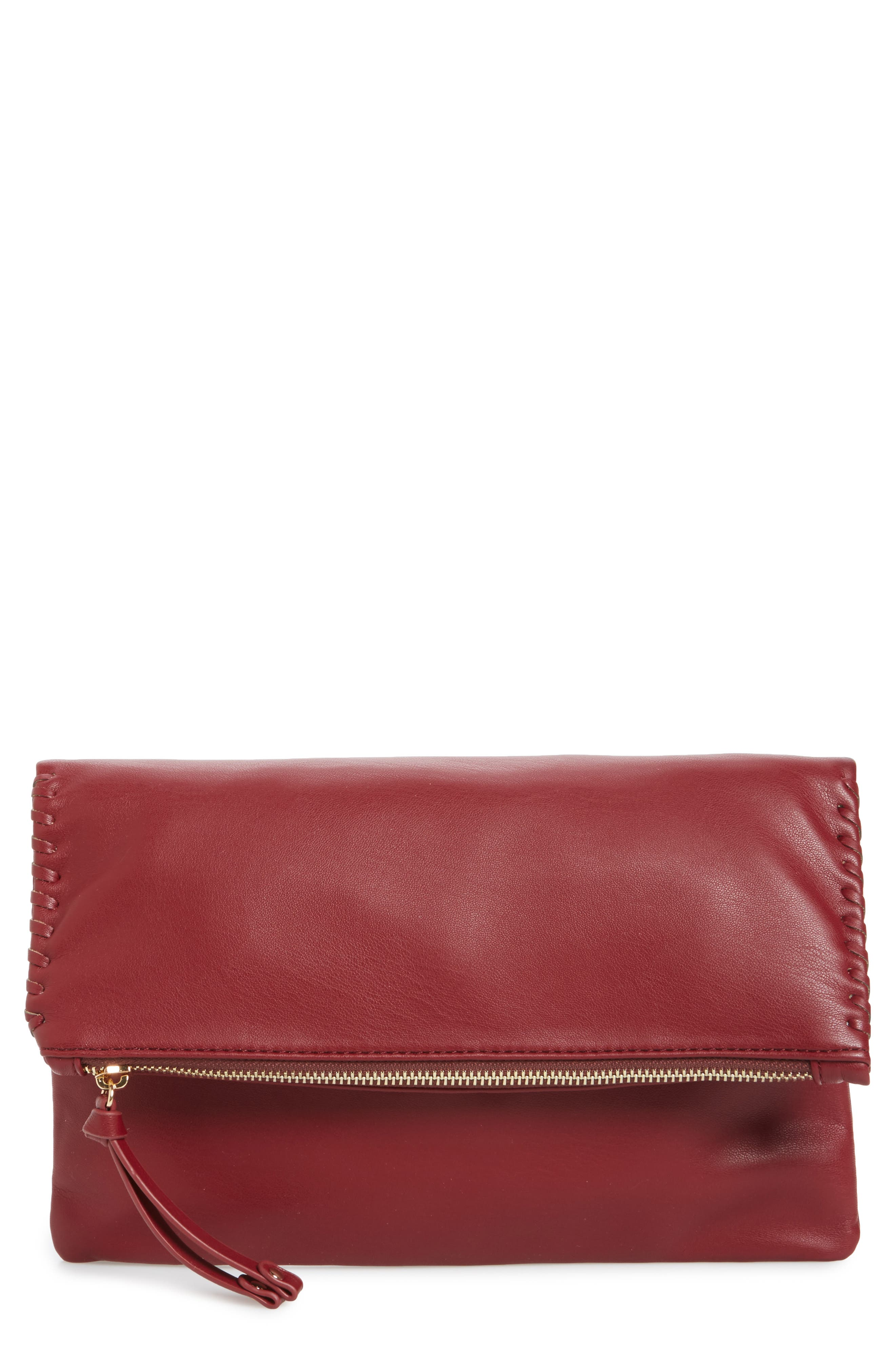Main Image - Sole Society Rifkie Faux Leather Foldover Clutch