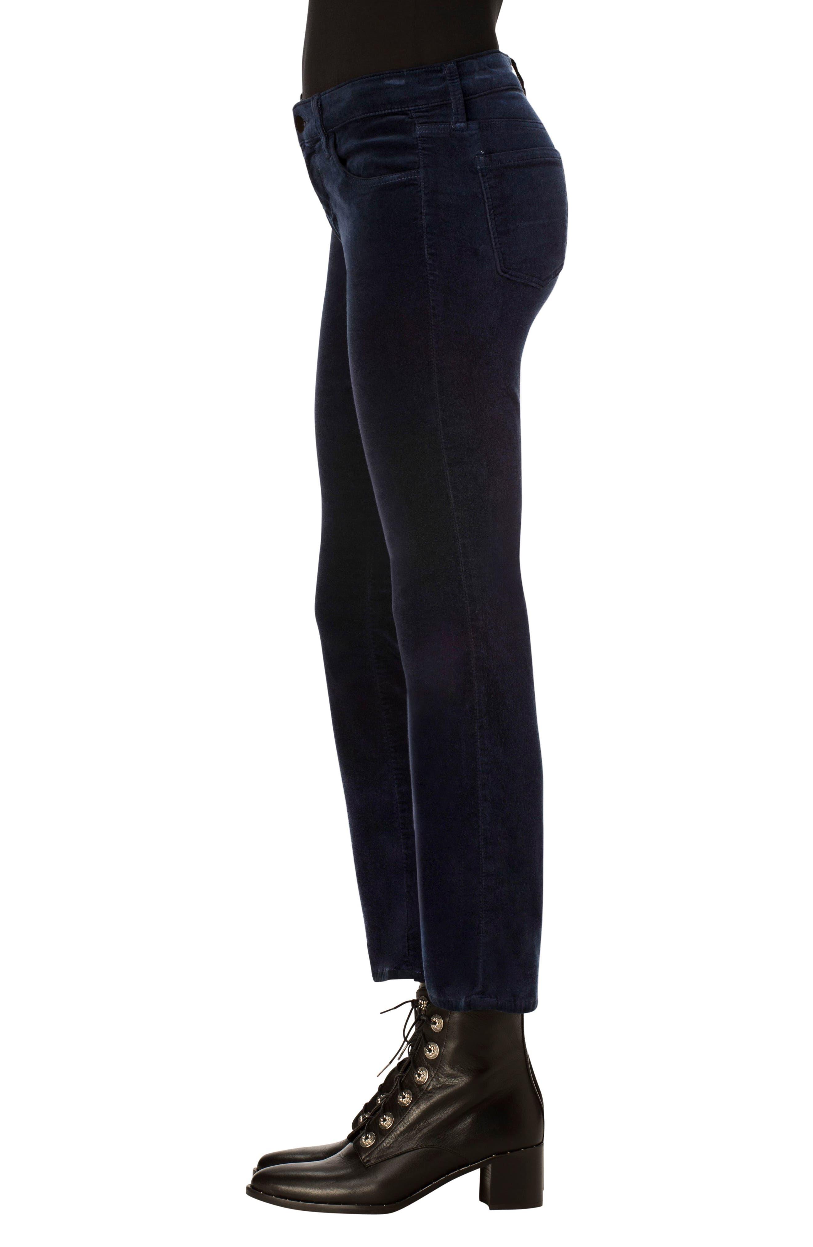 Selena Crop Bootcut Jeans,                             Alternate thumbnail 3, color,                             Dark Iris