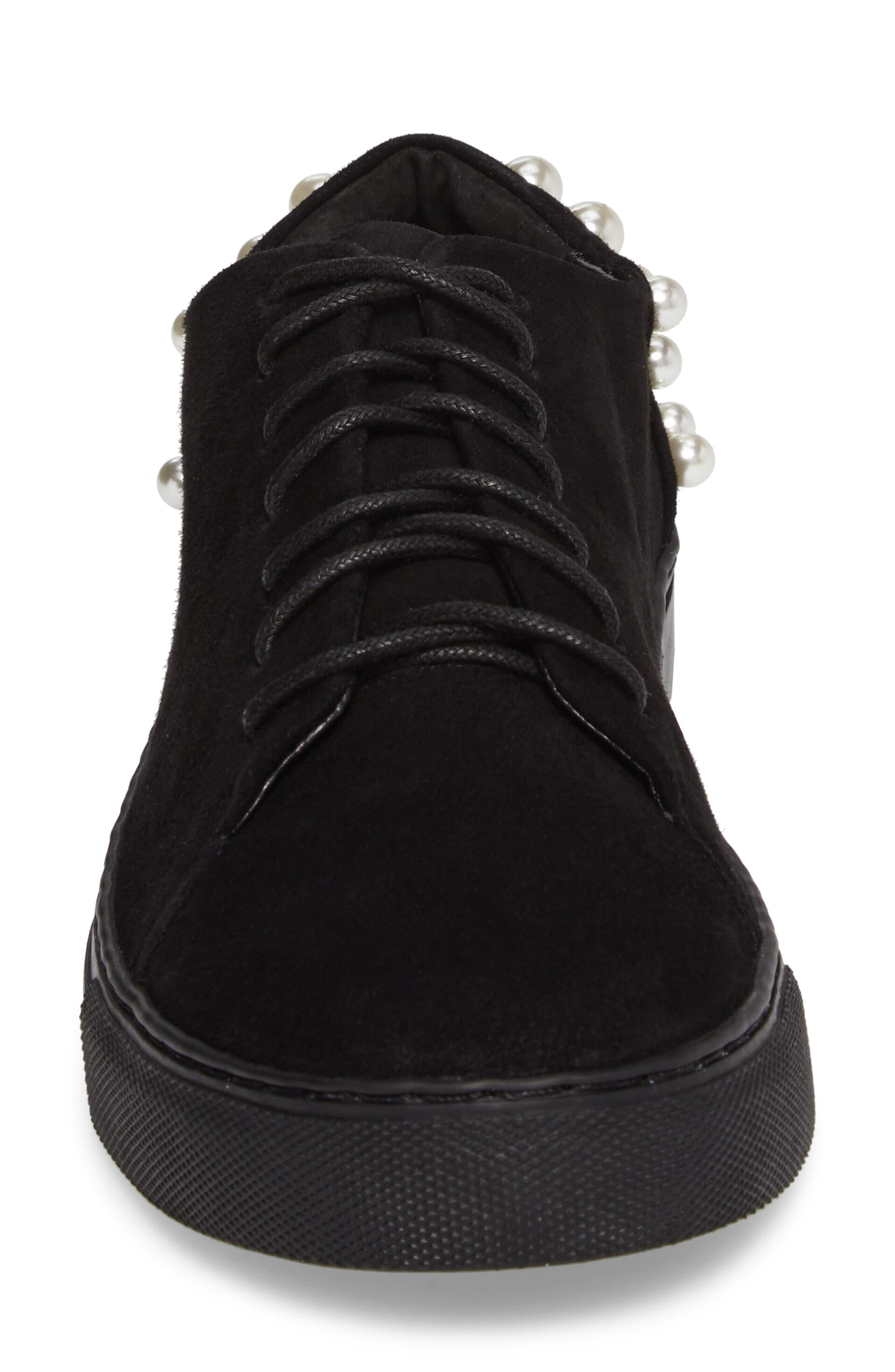 Haig Embellished Sneaker,                             Alternate thumbnail 4, color,                             Black