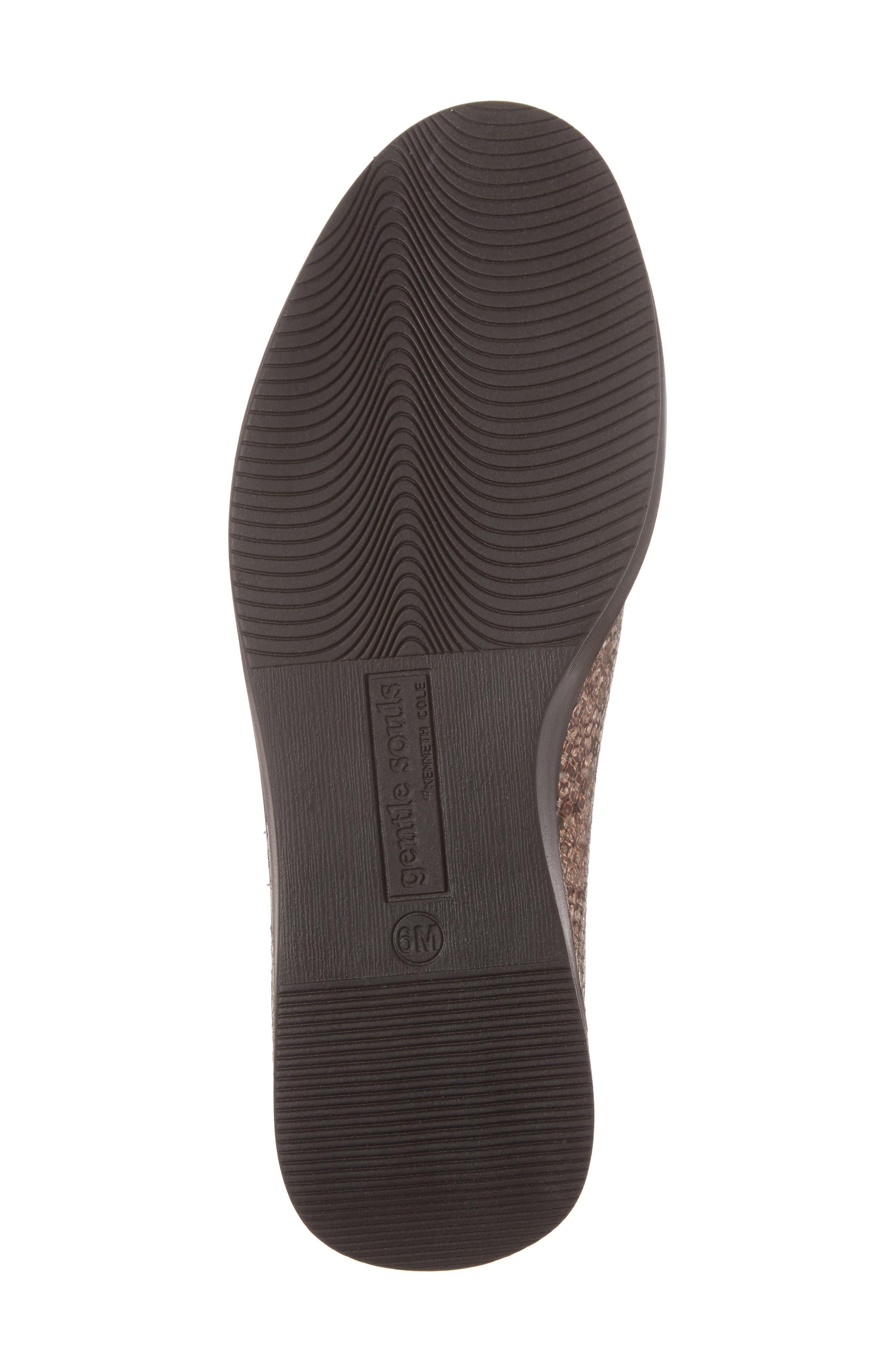 Hanna Slip-On Sneaker,                             Alternate thumbnail 6, color,                             Rose Gold Leather