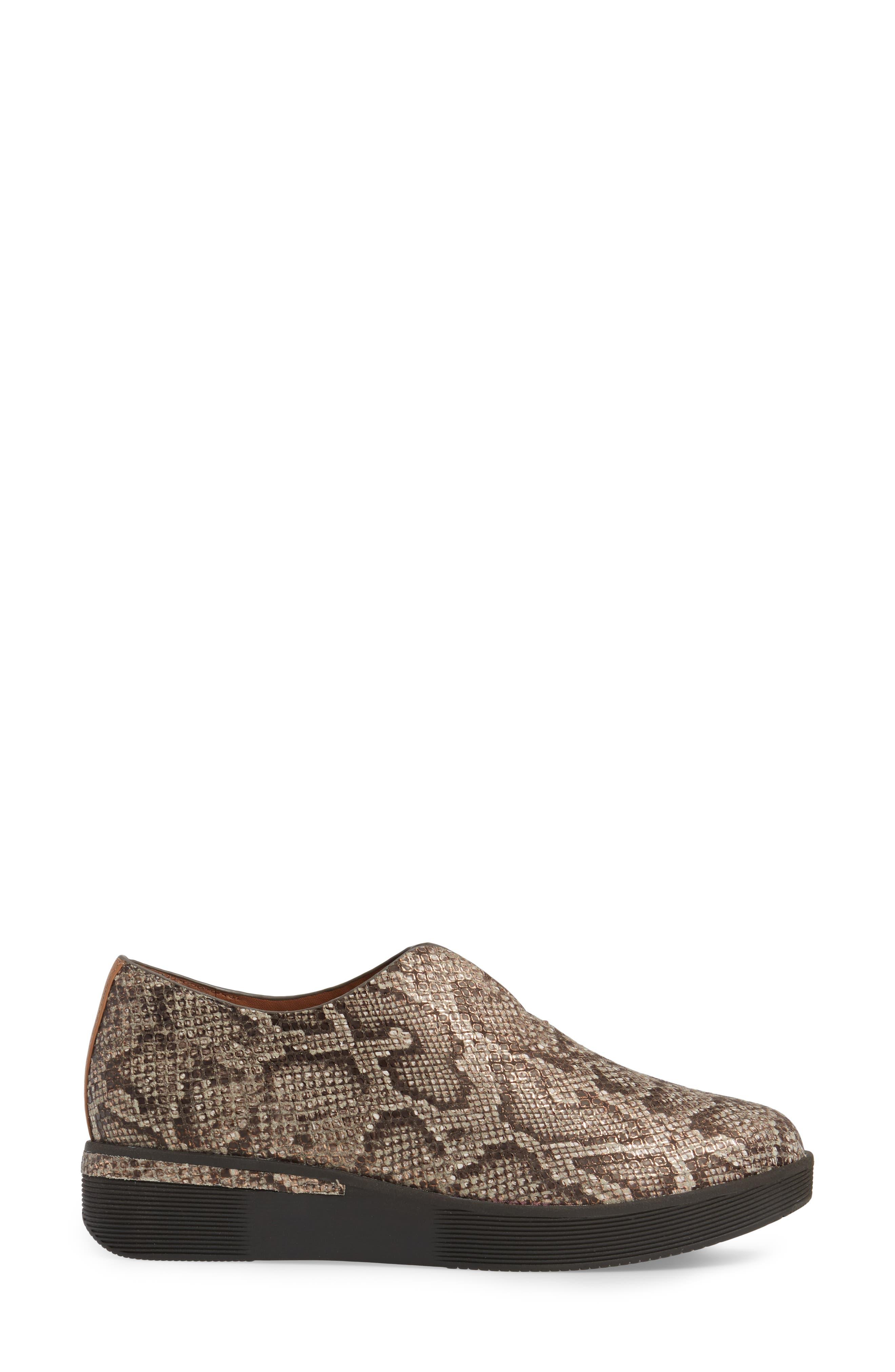 Hanna Slip-On Sneaker,                             Alternate thumbnail 3, color,                             Rose Gold Leather