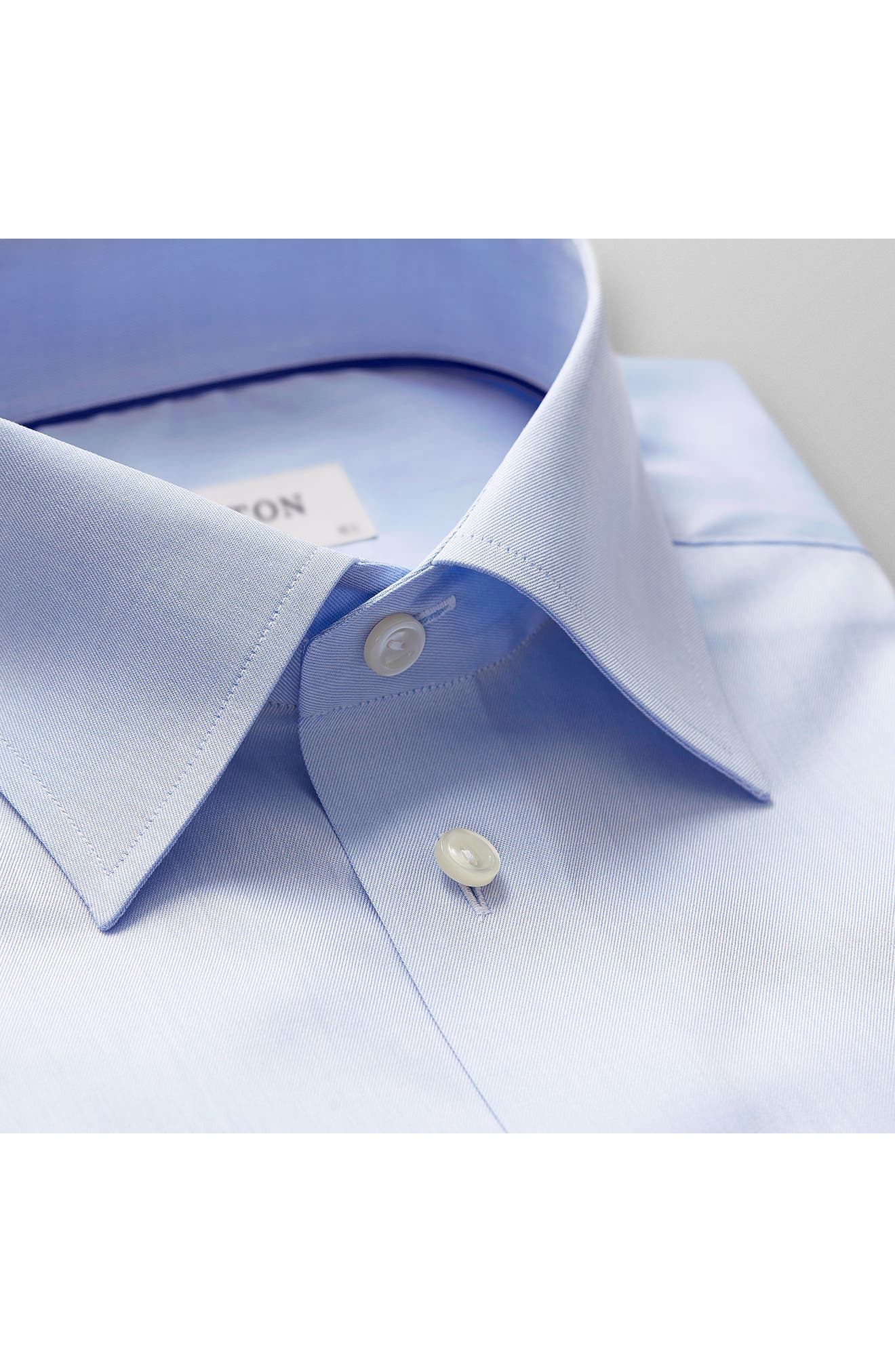 Classic Fit Twill Dress Shirt,                             Alternate thumbnail 2, color,                             Blue