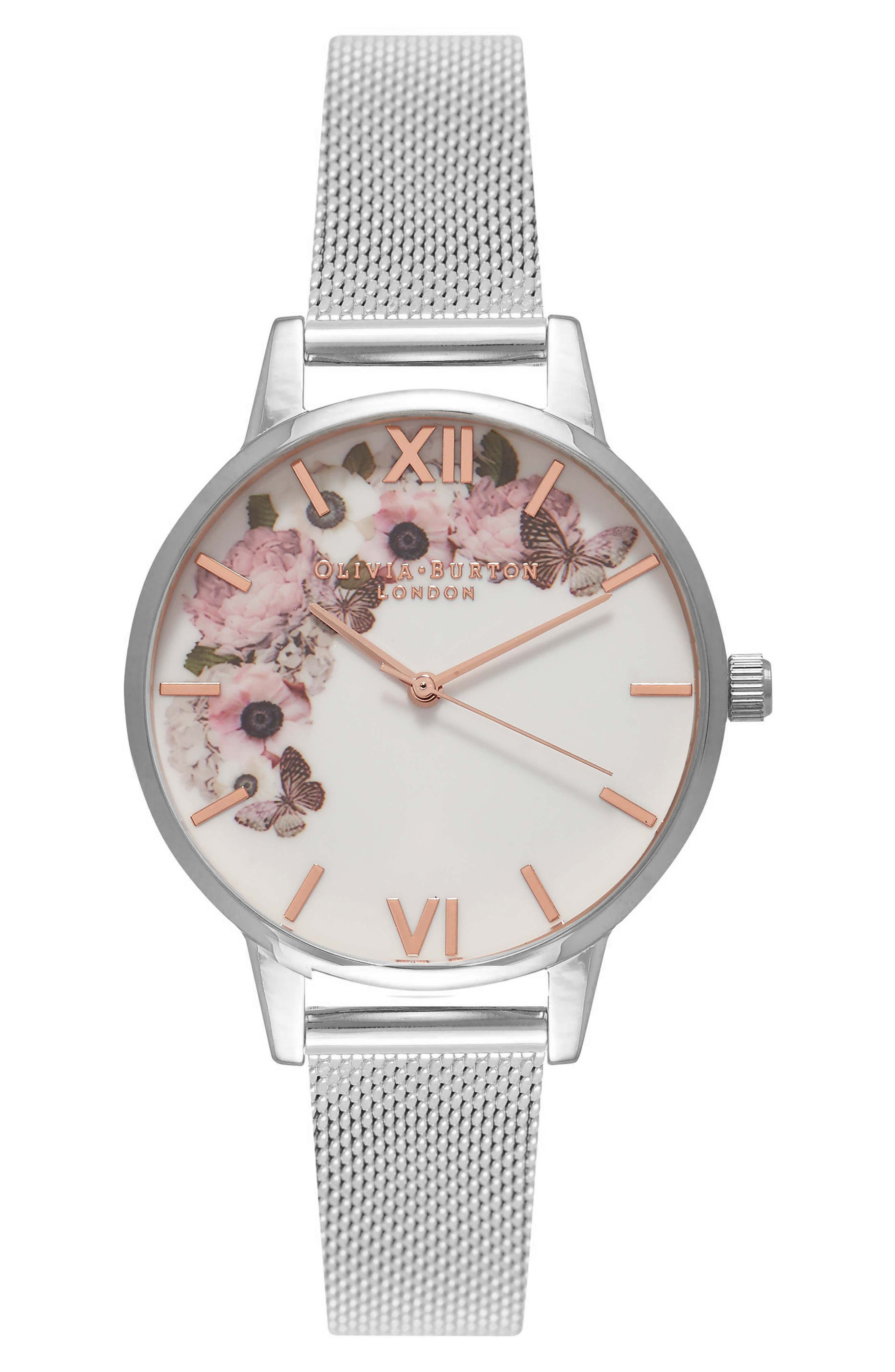 Olivia Burton Enchanted Mesh Strap Watch, 30mm
