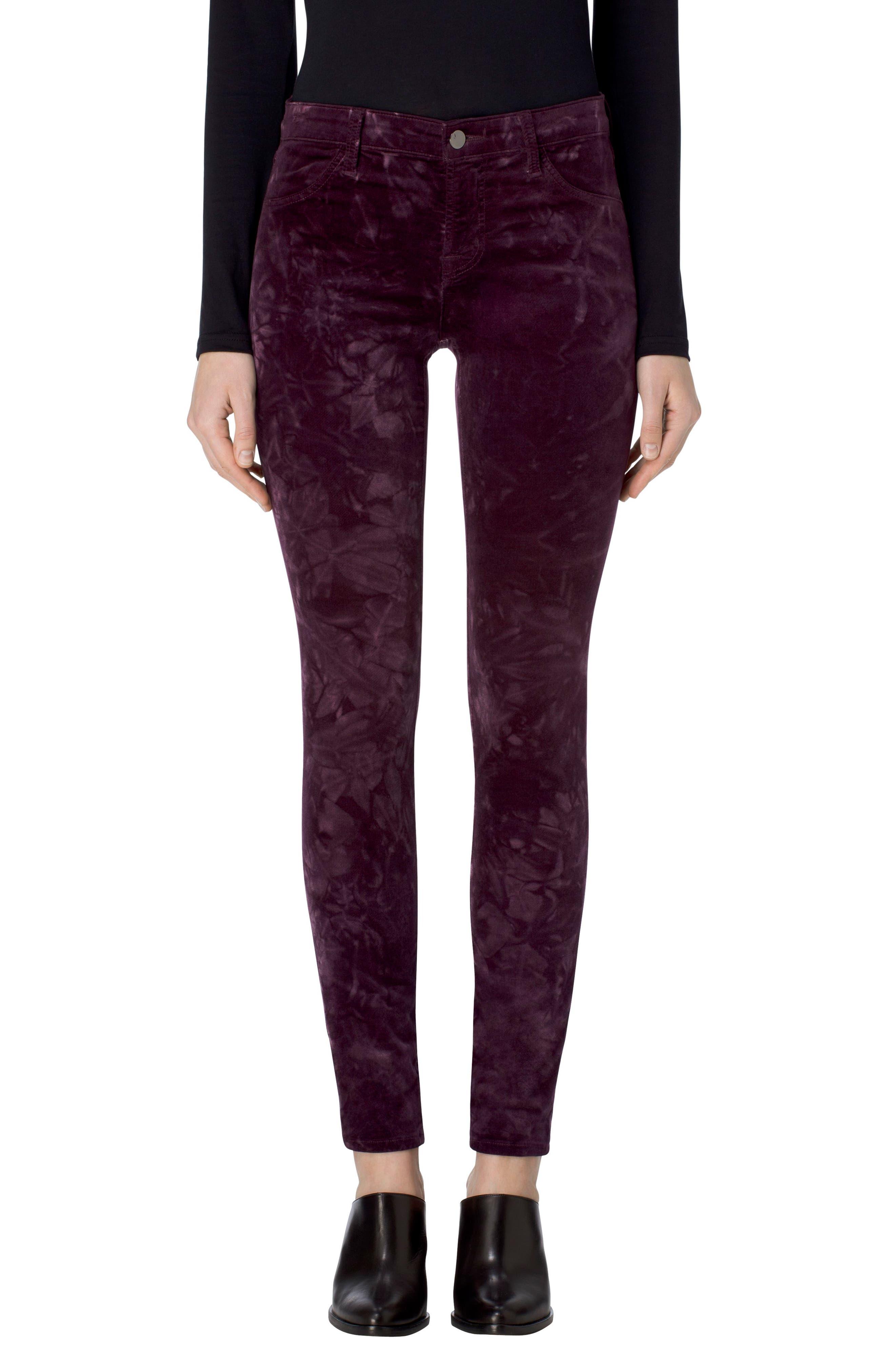 Alternate Image 1 Selected - J Brand '815' Mid Rise Velveteen Super Skinny Jeans