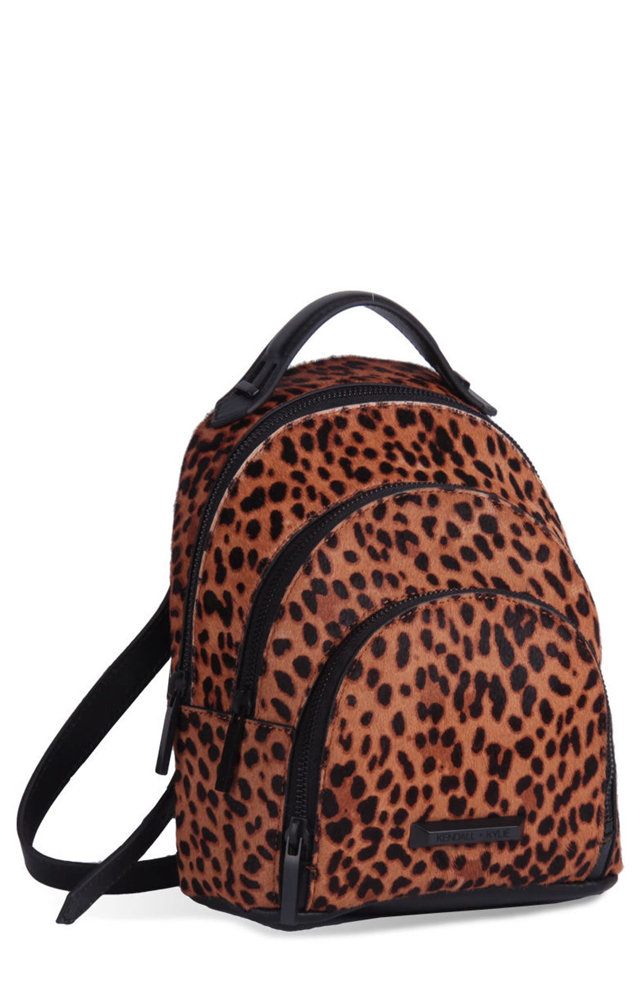 Alternate Image 6  - KENDALL + KYLIE Mini Sloane Genuine Calf Hair & Leather Backpack