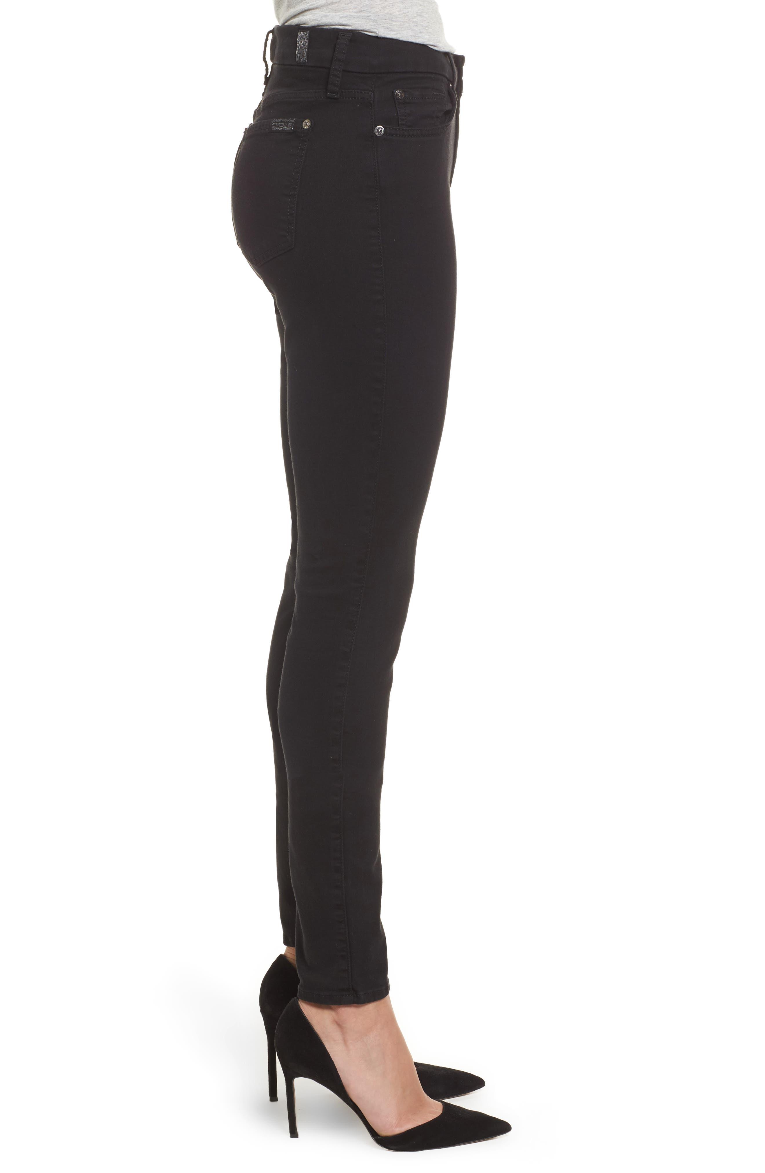 Alternate Image 3  - 7 For All Mankind® b(air) High Waist Skinny Jeans (Bair Black)