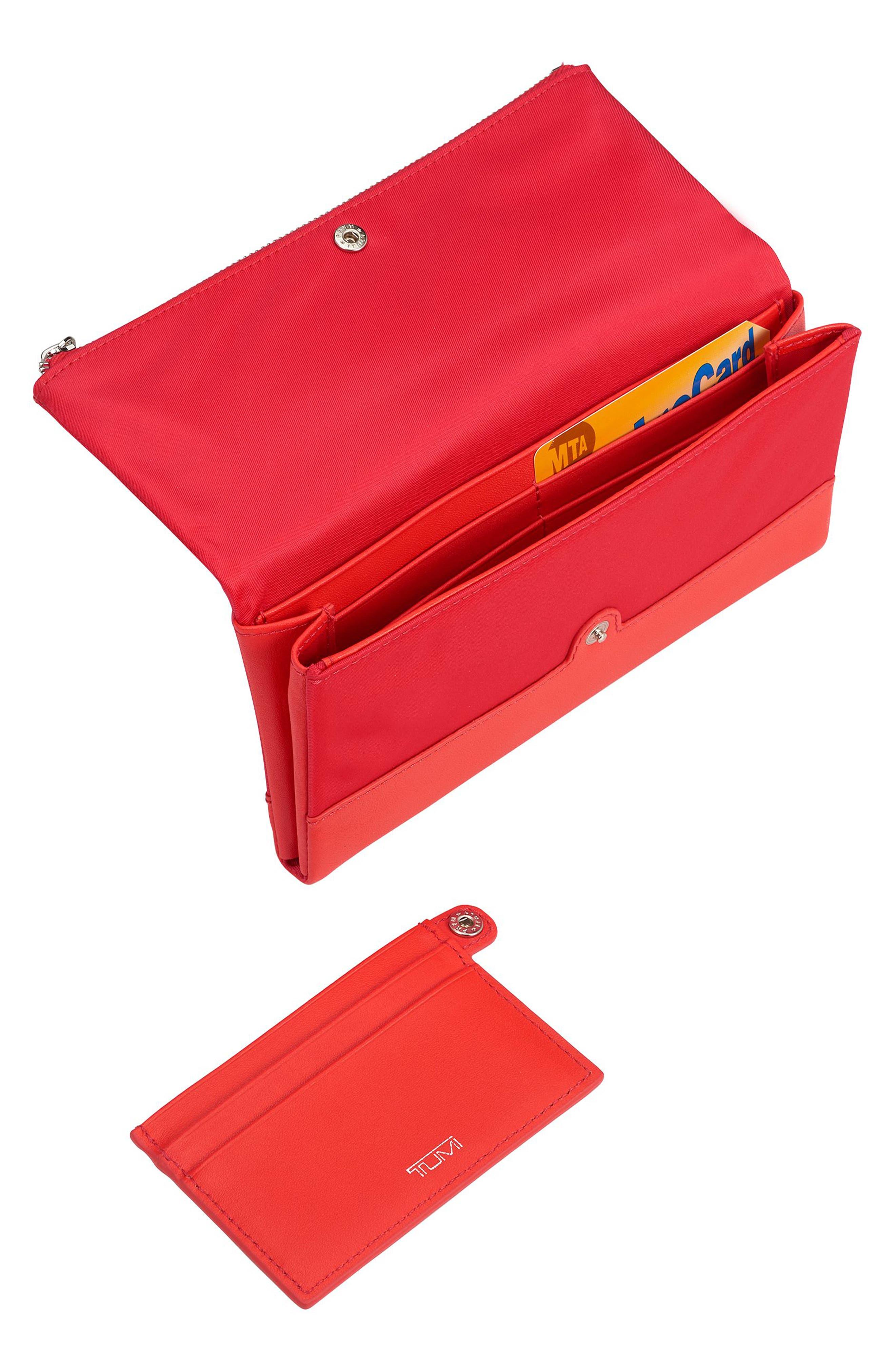 Continental Flap Tech Wallet,                             Alternate thumbnail 2, color,                             Hot Pink