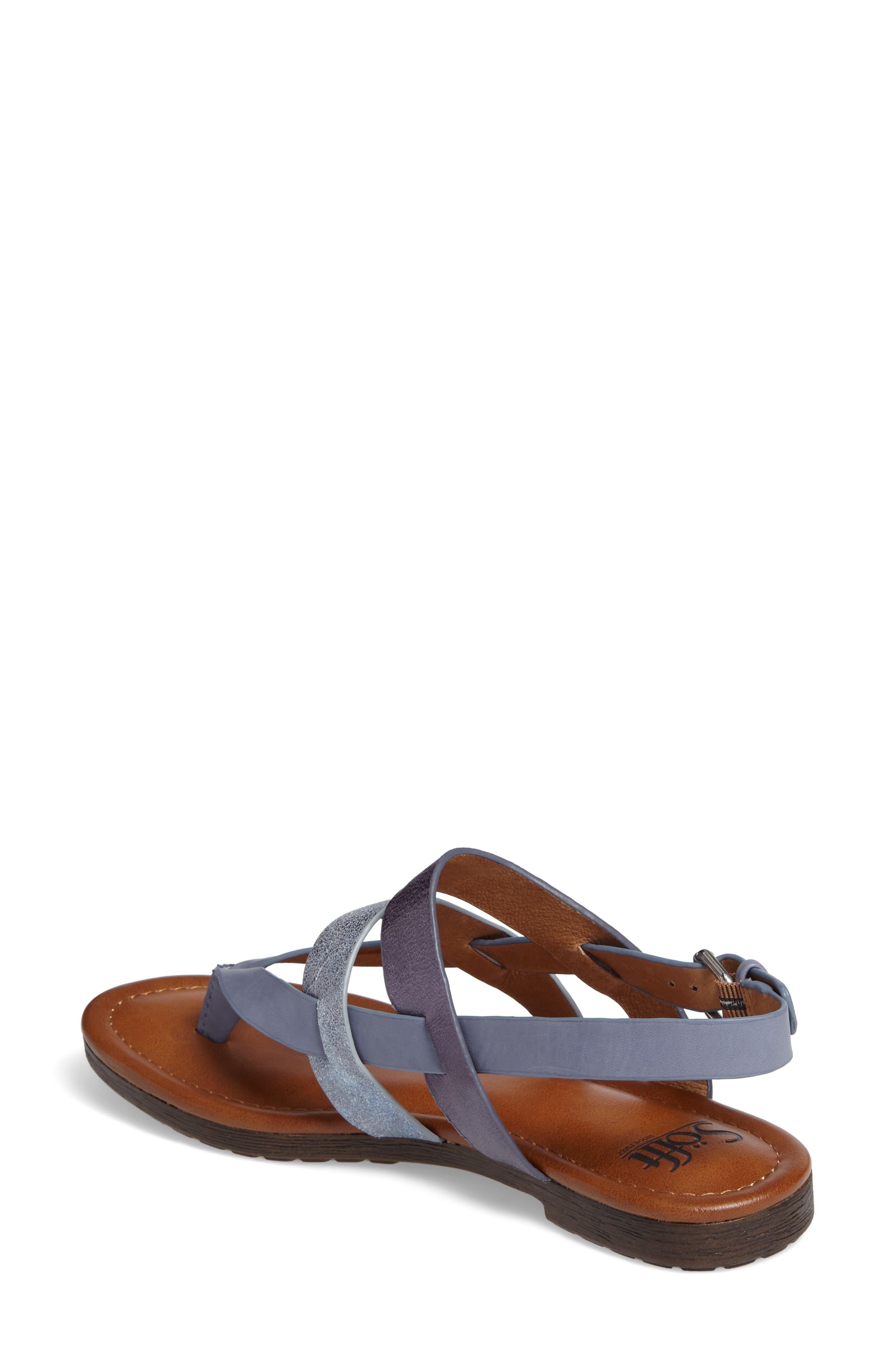 Bena Strappy Sandal,                             Alternate thumbnail 2, color,                             Denim/ Blue/ Pale Blue Leather