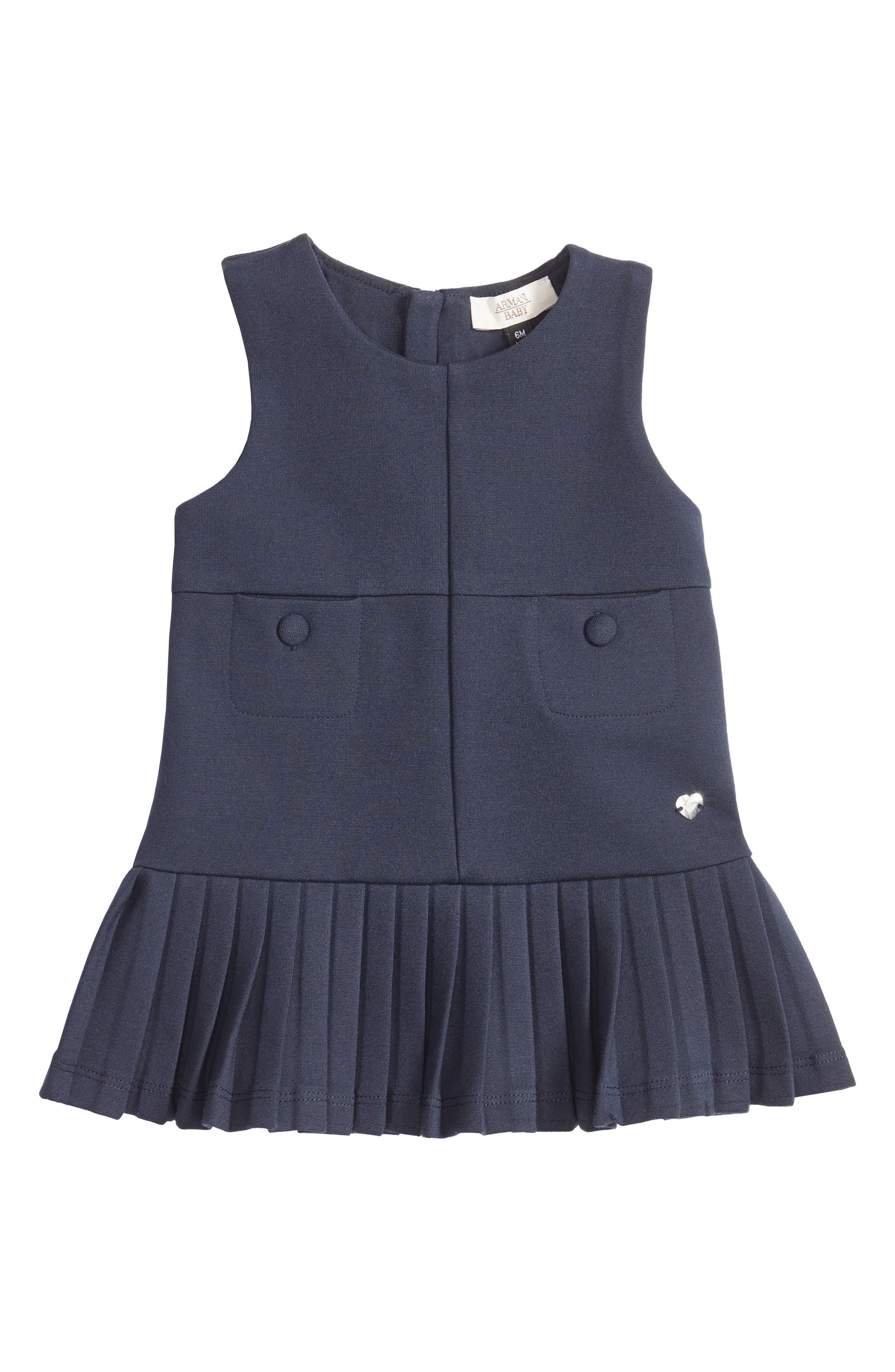 Sleeveless Jersey Dress,                             Main thumbnail 1, color,                             Navy Blue