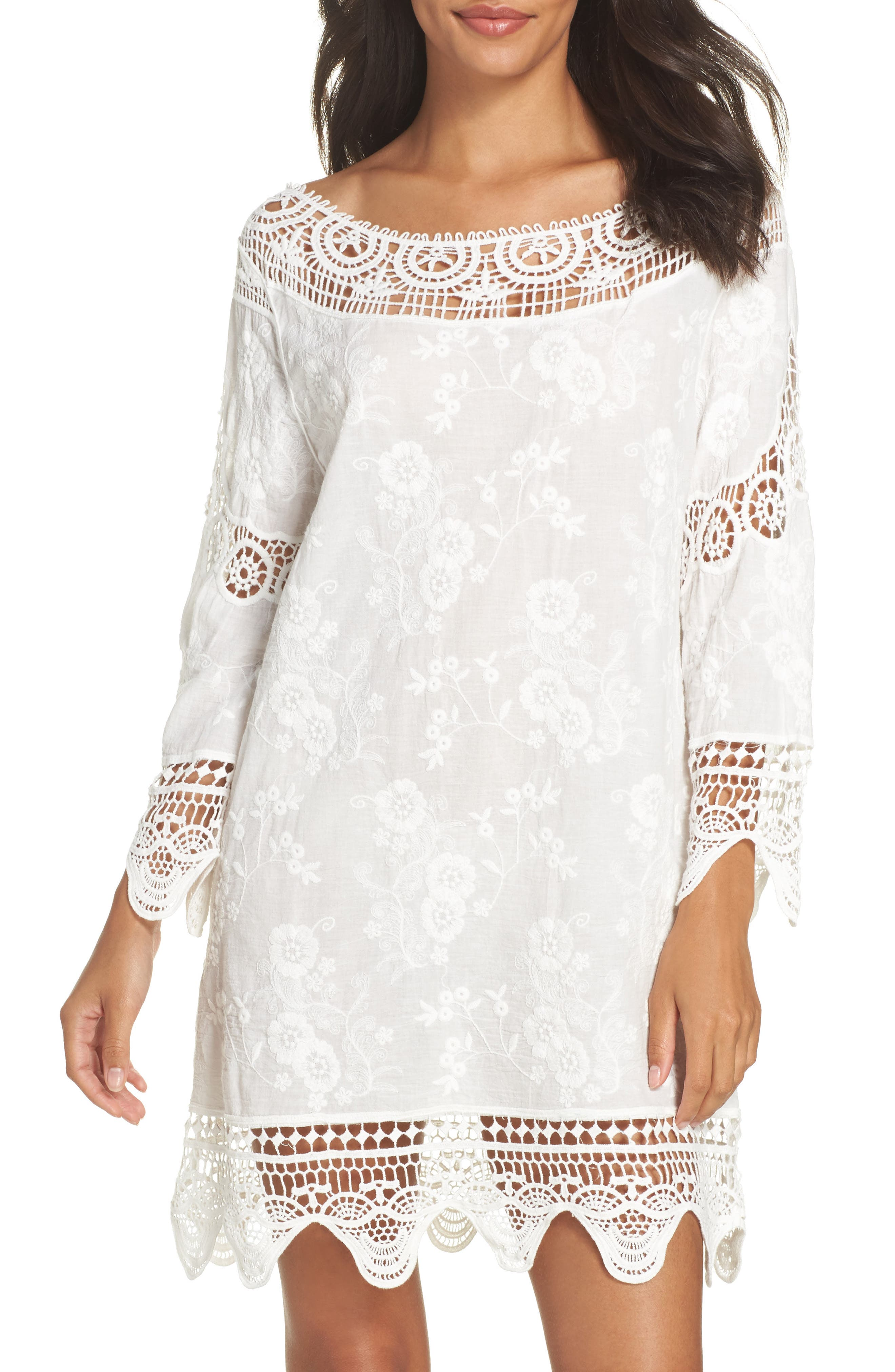 Zen Garden Cover-Up Dress,                             Main thumbnail 1, color,                             White