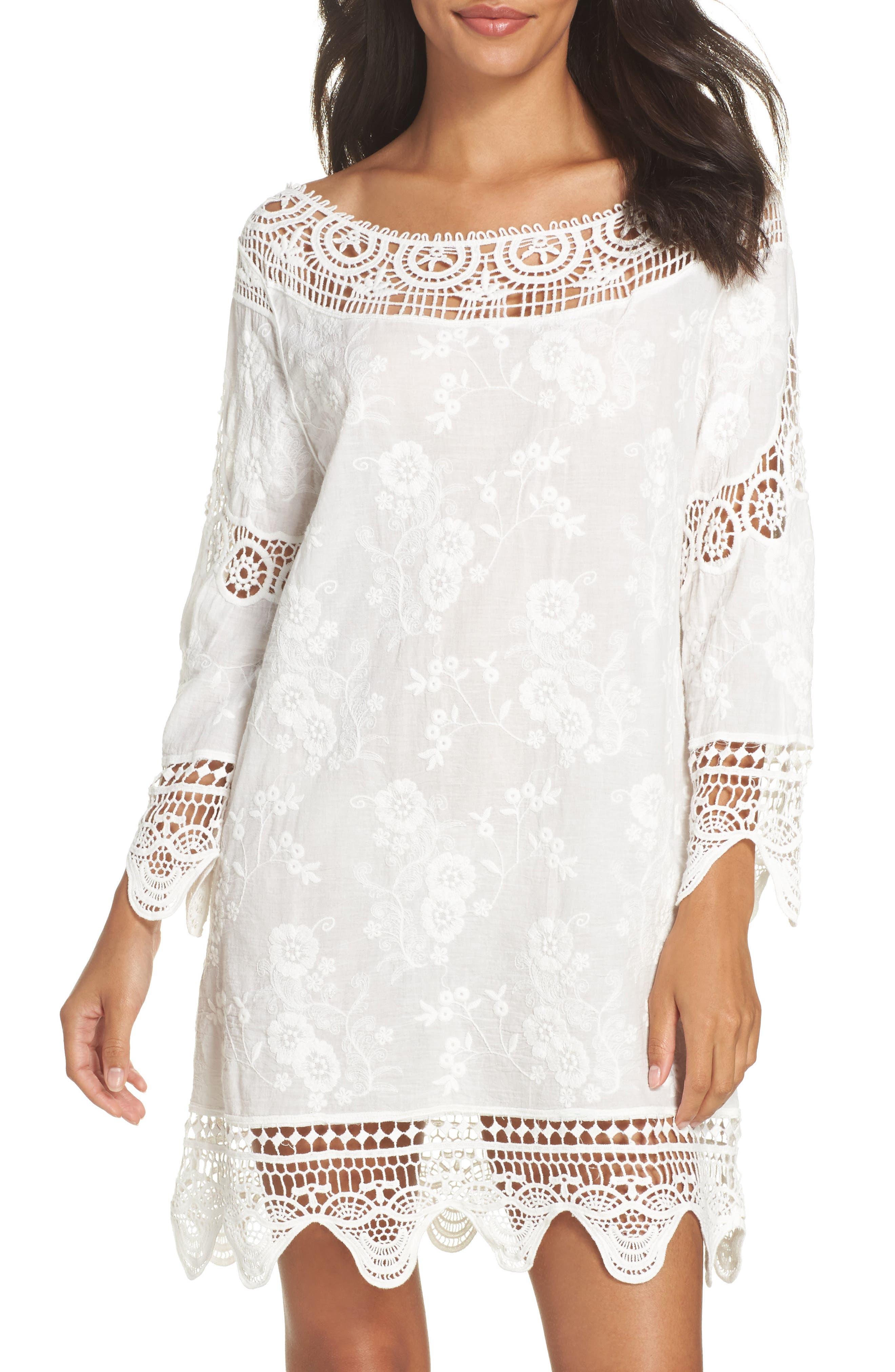 Zen Garden Cover-Up Dress,                         Main,                         color, White