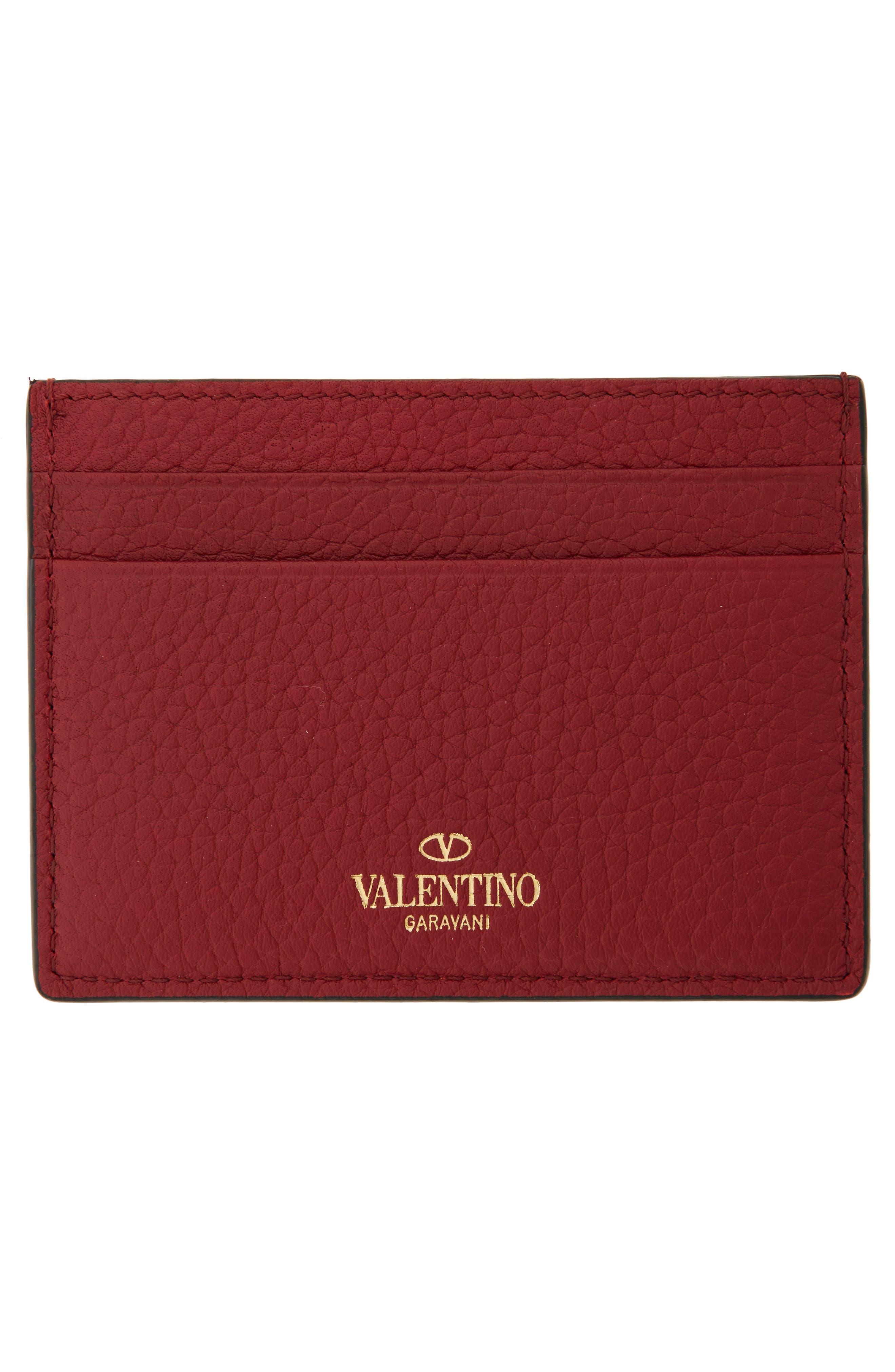 Alternate Image 2  - VALENTINO GARAVANI Rockstud Leather Card Holder