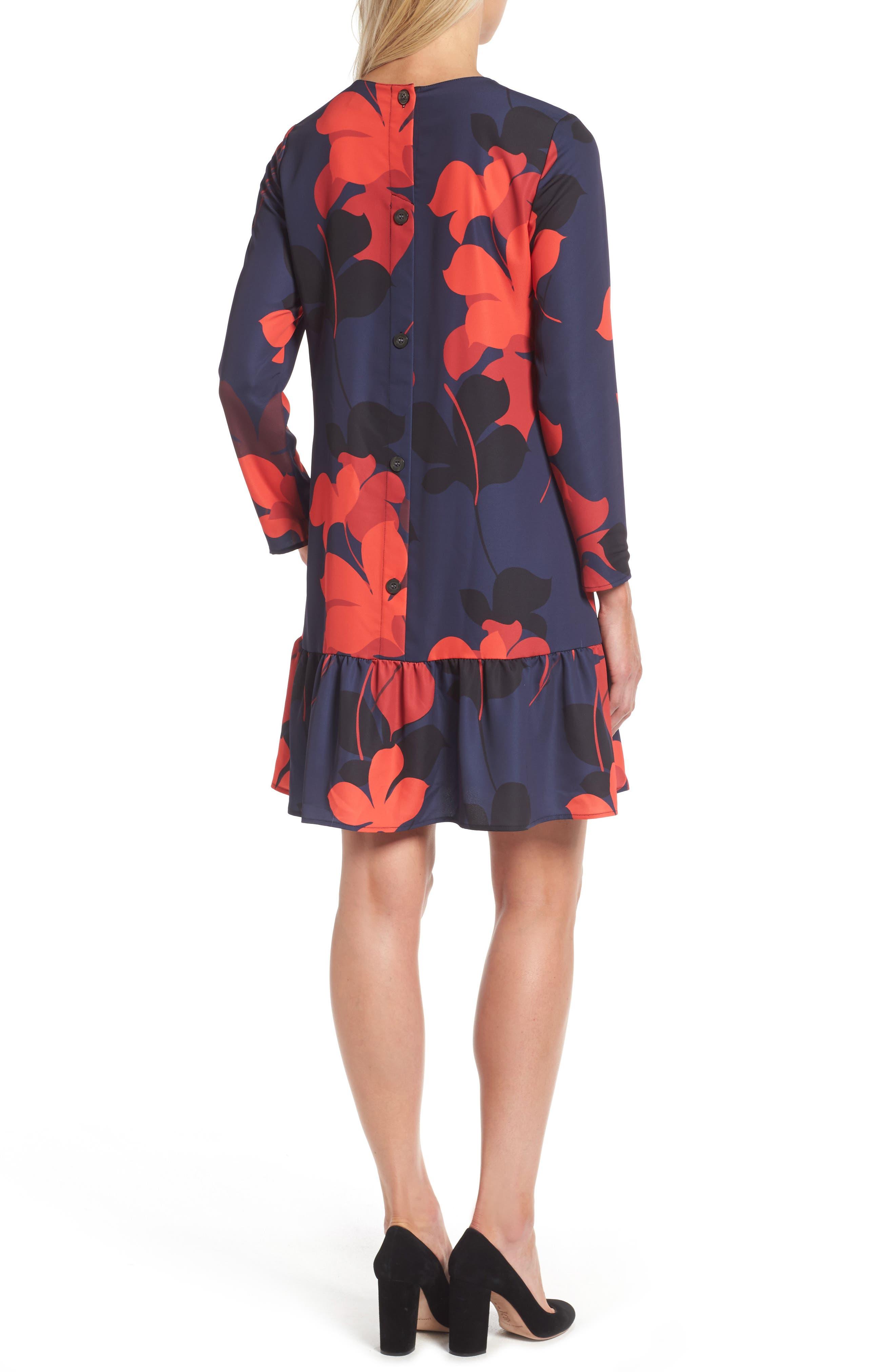 Alternate Image 2  - Halogen® Button Back Ruffle Hem Dress (Regular & Petite)