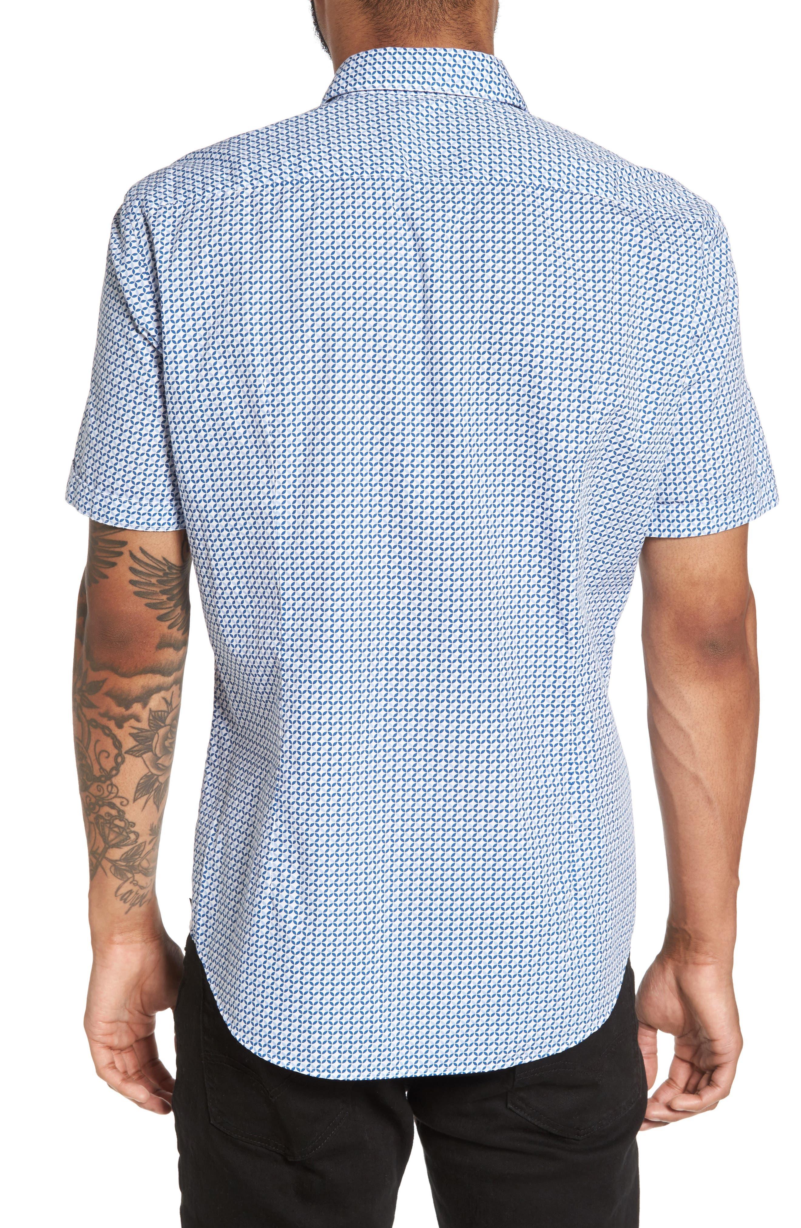 Alternate Image 2  - BOSS Robbie Trim Fit Print Sport Shirt