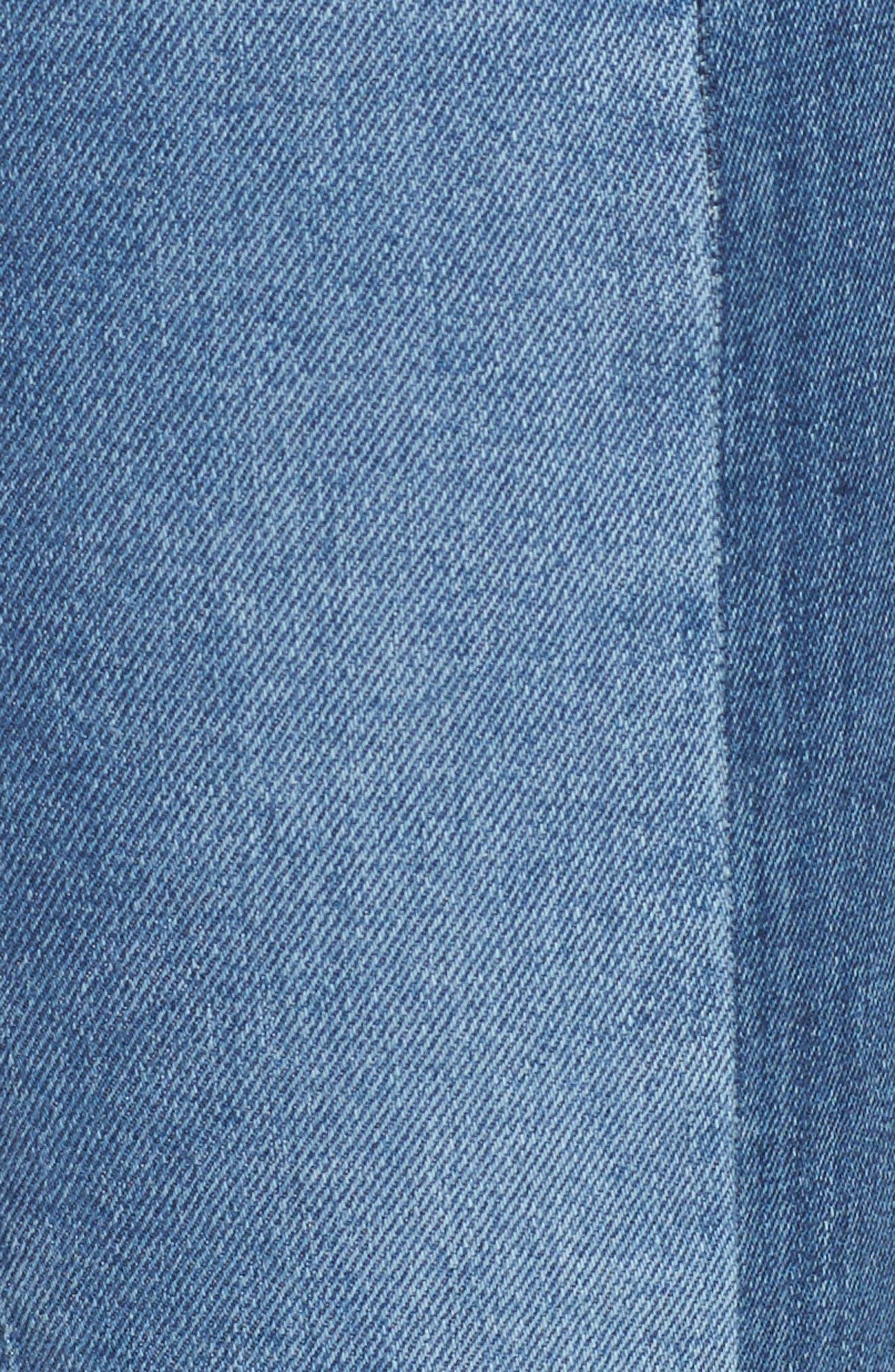 Alternate Image 5  - Mavi Jeans Tess Blocked Super Skinny Jeans (Mid Gold Icon)