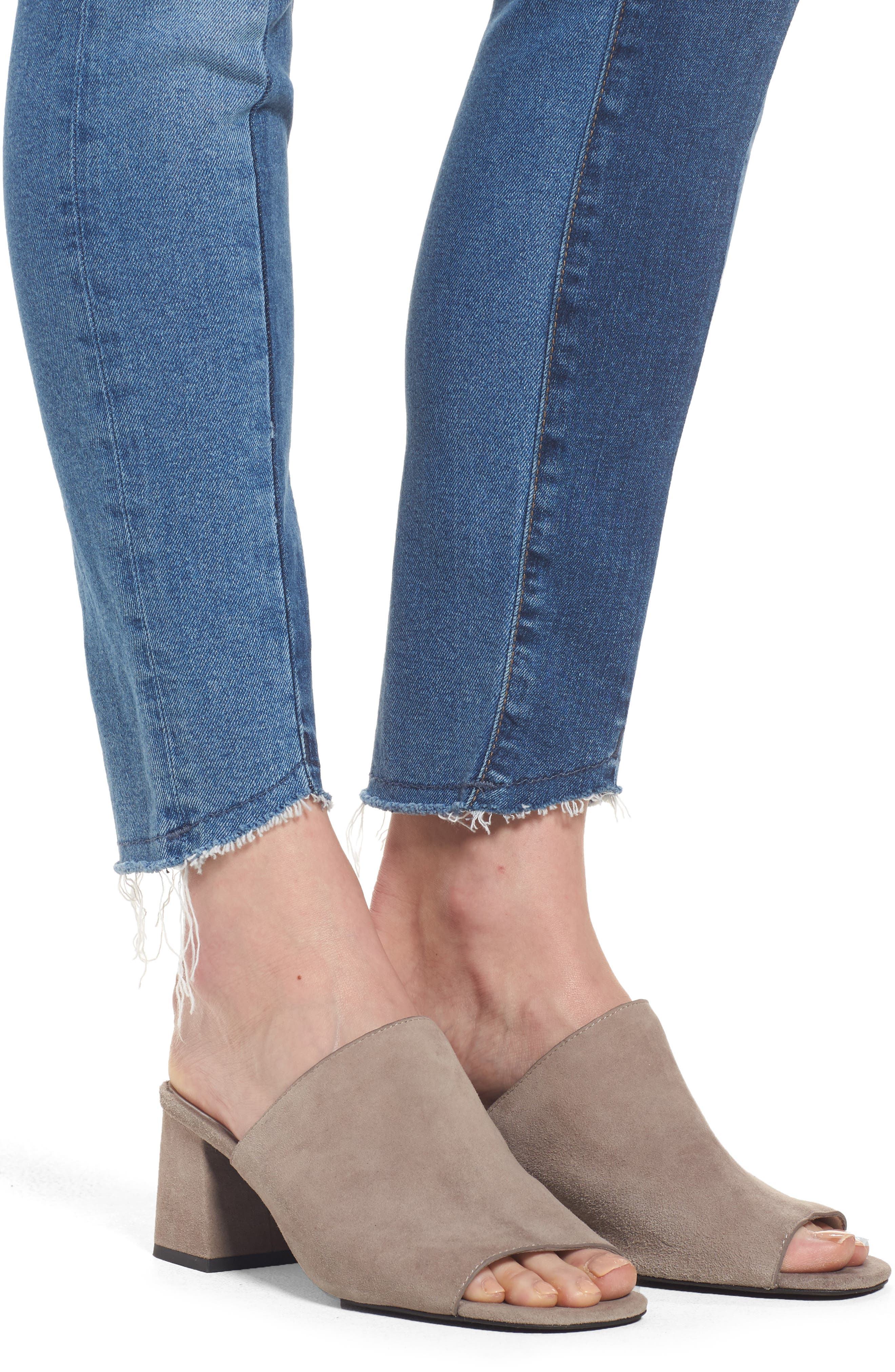 Tess Blocked Super Skinny Jeans,                             Alternate thumbnail 4, color,                             Mid Shaded Blocking Gold Icon