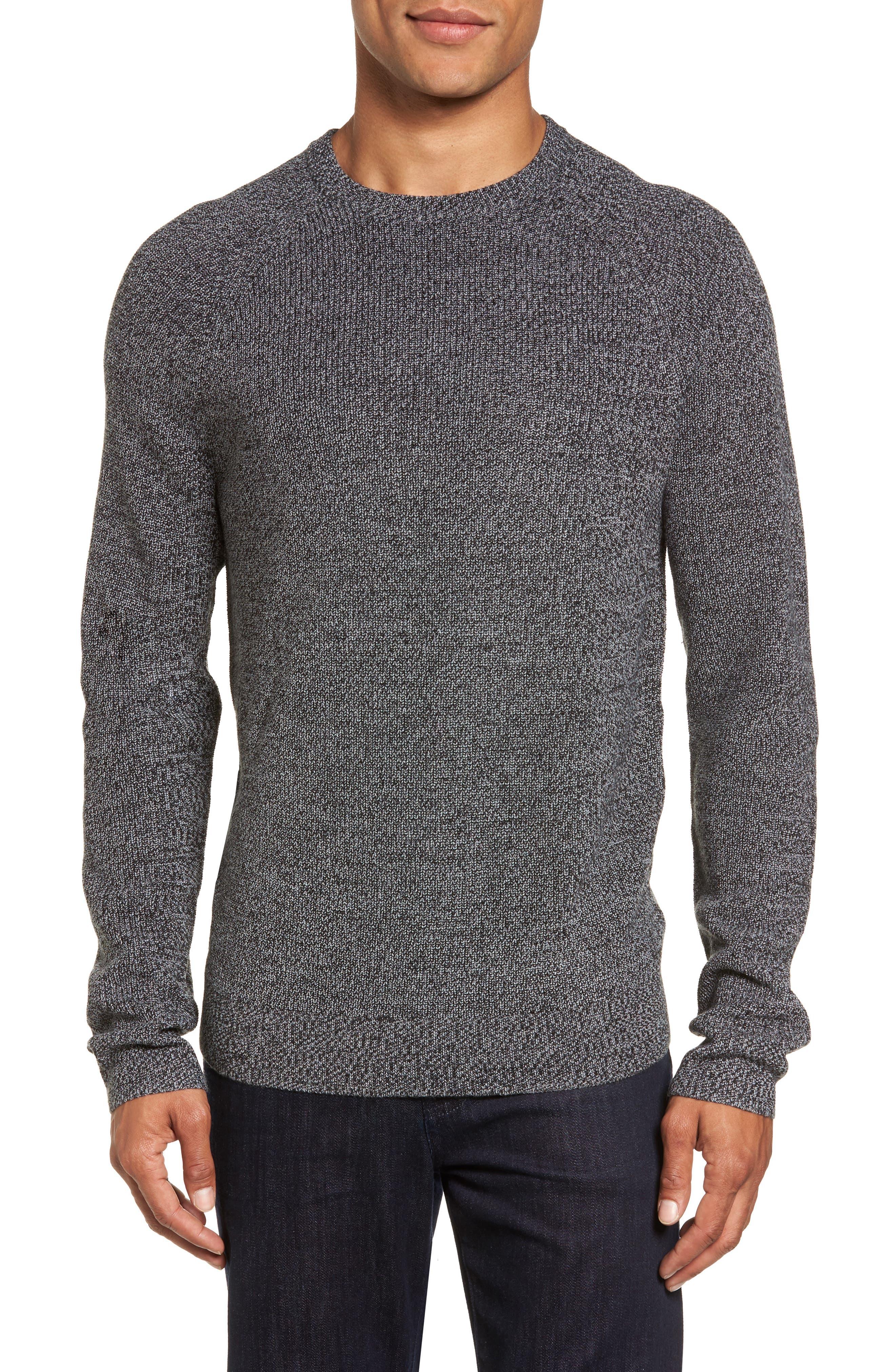 Main Image - Nordstrom Men's Shop Textured Merino Wool Blend Sweater