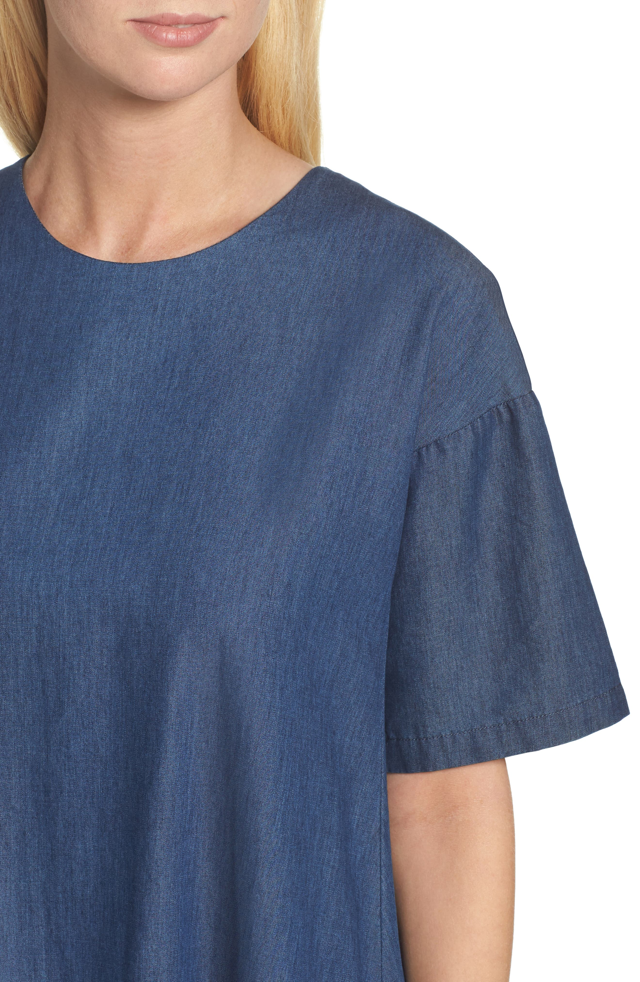 Alternate Image 4  - French Connection Arrow Chambray Babydoll Dress