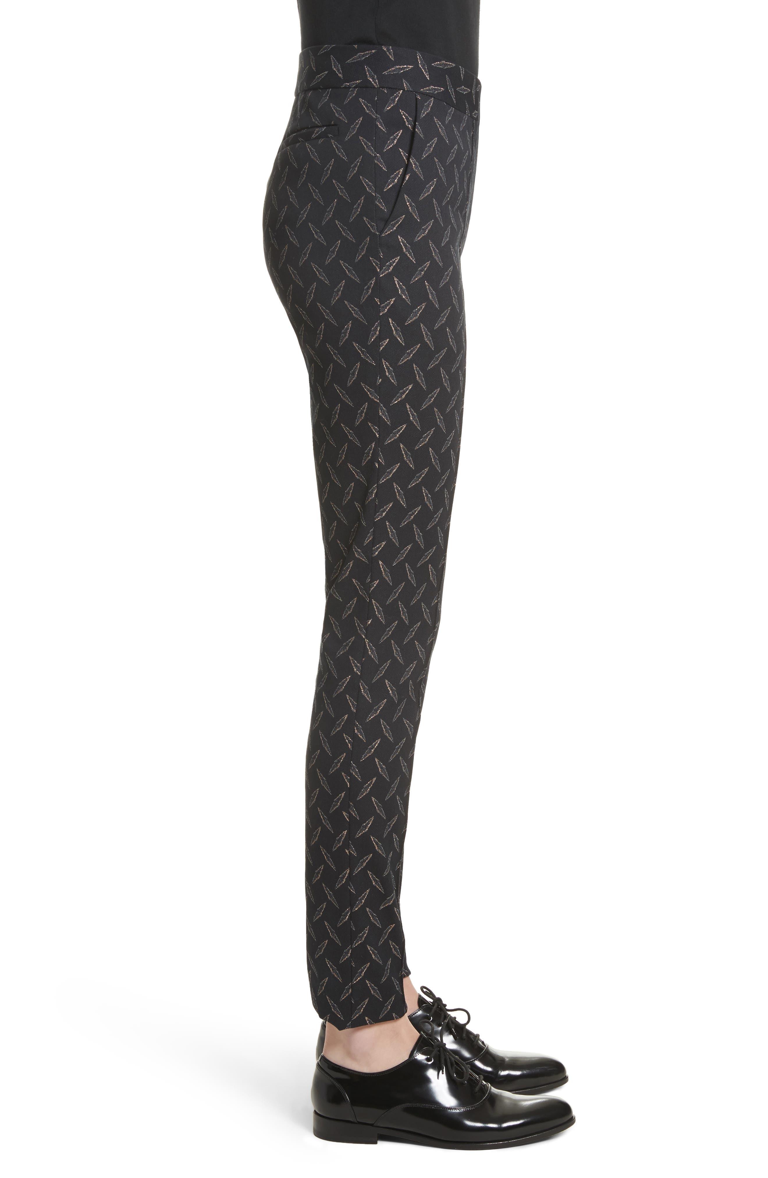 Alternate Image 6  - Yigal Azrouël Metallic Stretch Jacquard Pants