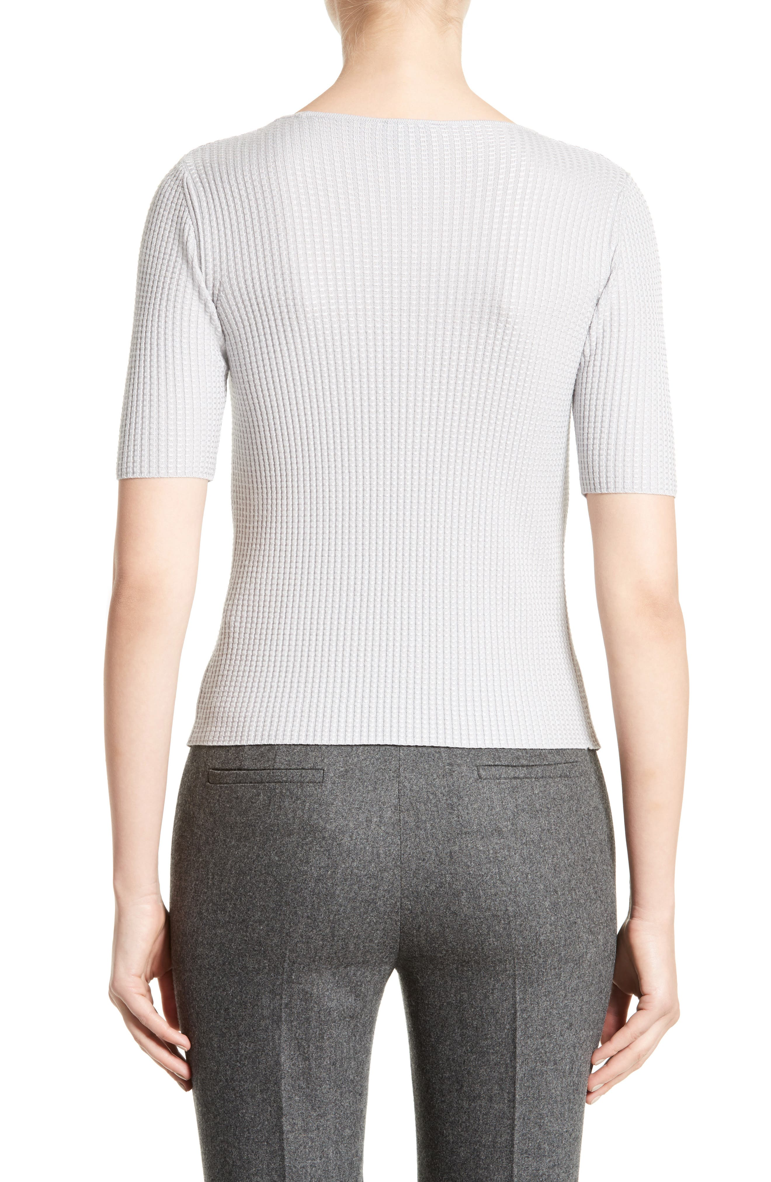 Stretch Wool Blend Top,                             Alternate thumbnail 2, color,                             Light Grey
