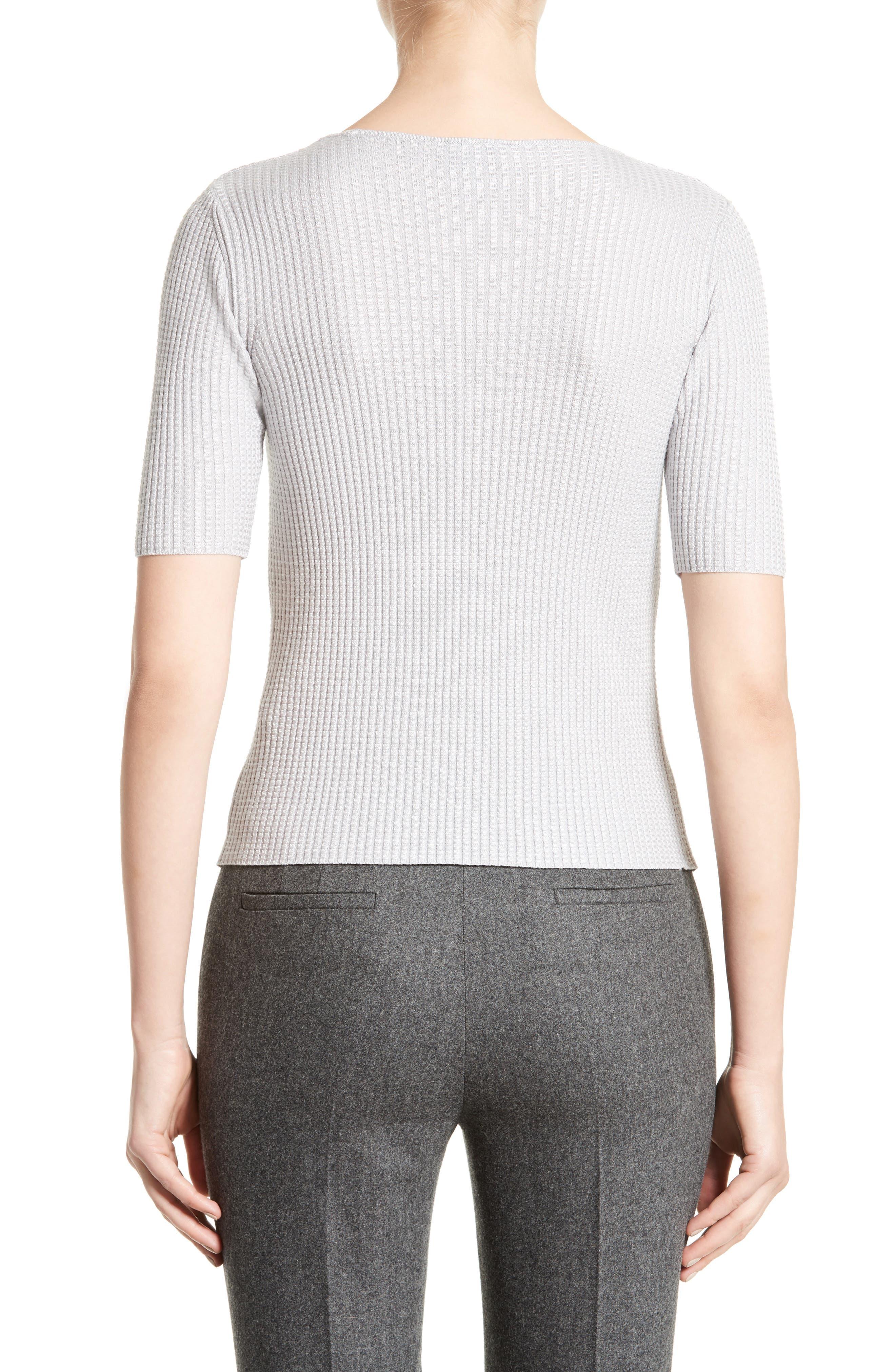 Alternate Image 2  - Armani Collezioni Stretch Wool Blend Top