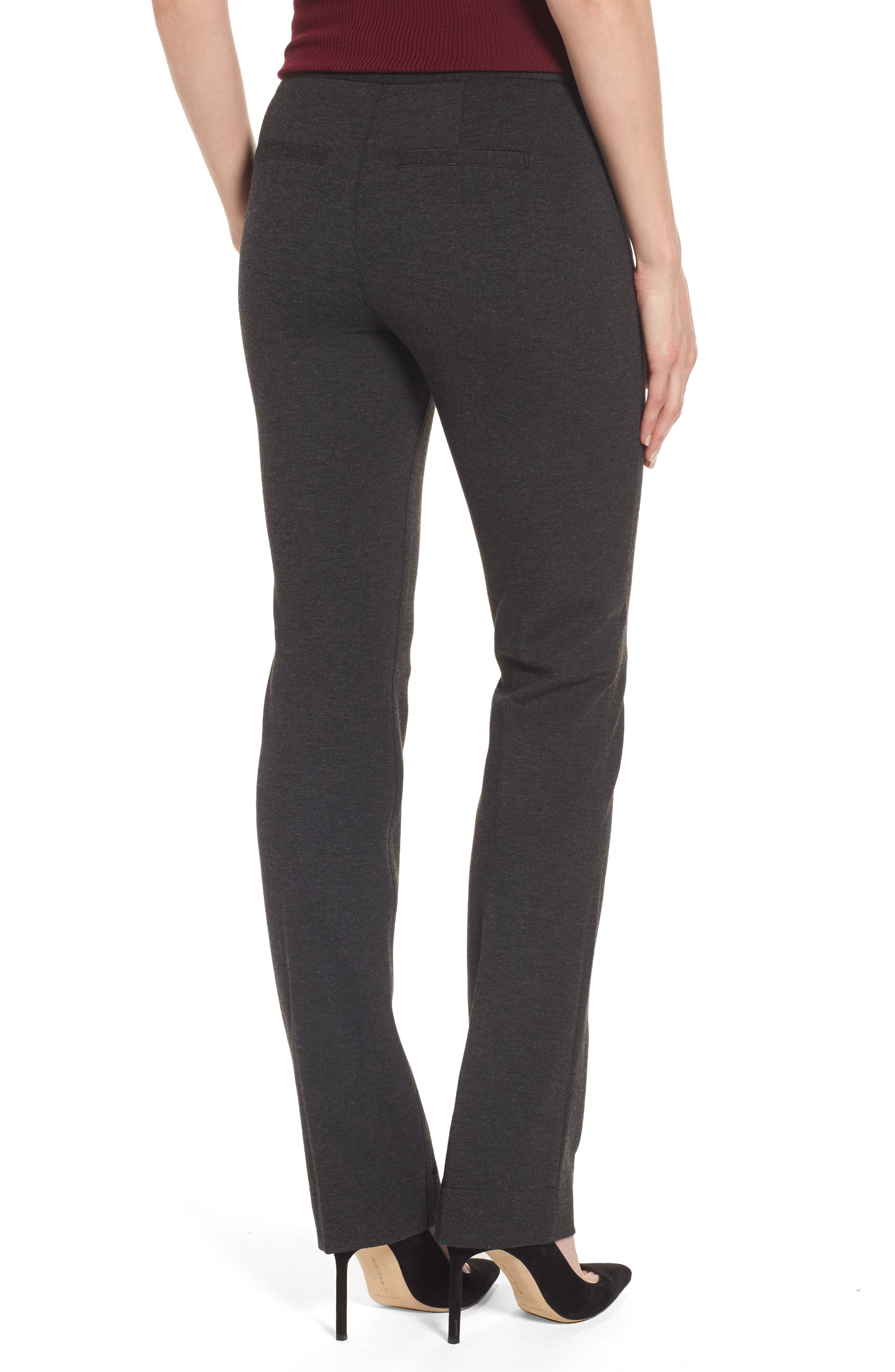 Stretch Knit Trousers,                             Alternate thumbnail 2, color,                             Charcoal