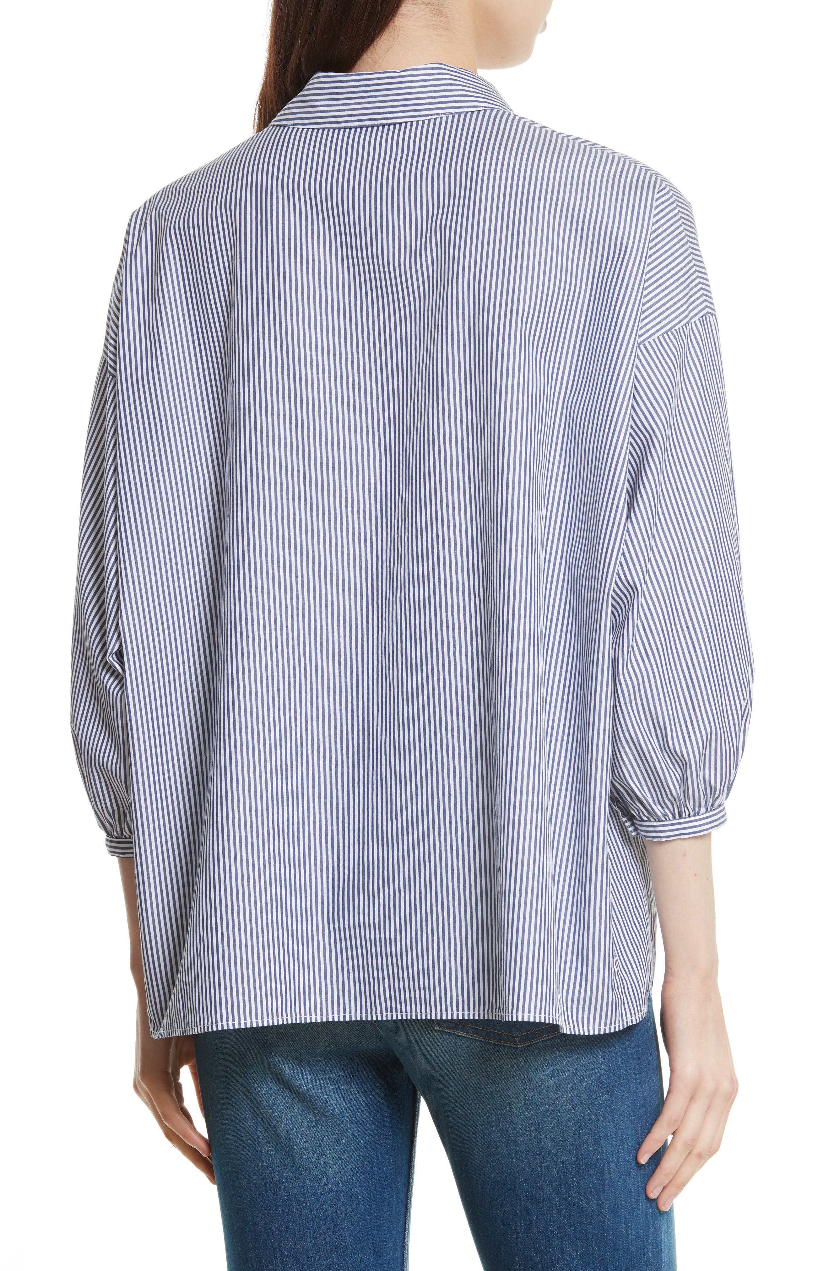 Alternate Image 3  - THE GREAT. The Easy Stripe Cotton Shirt