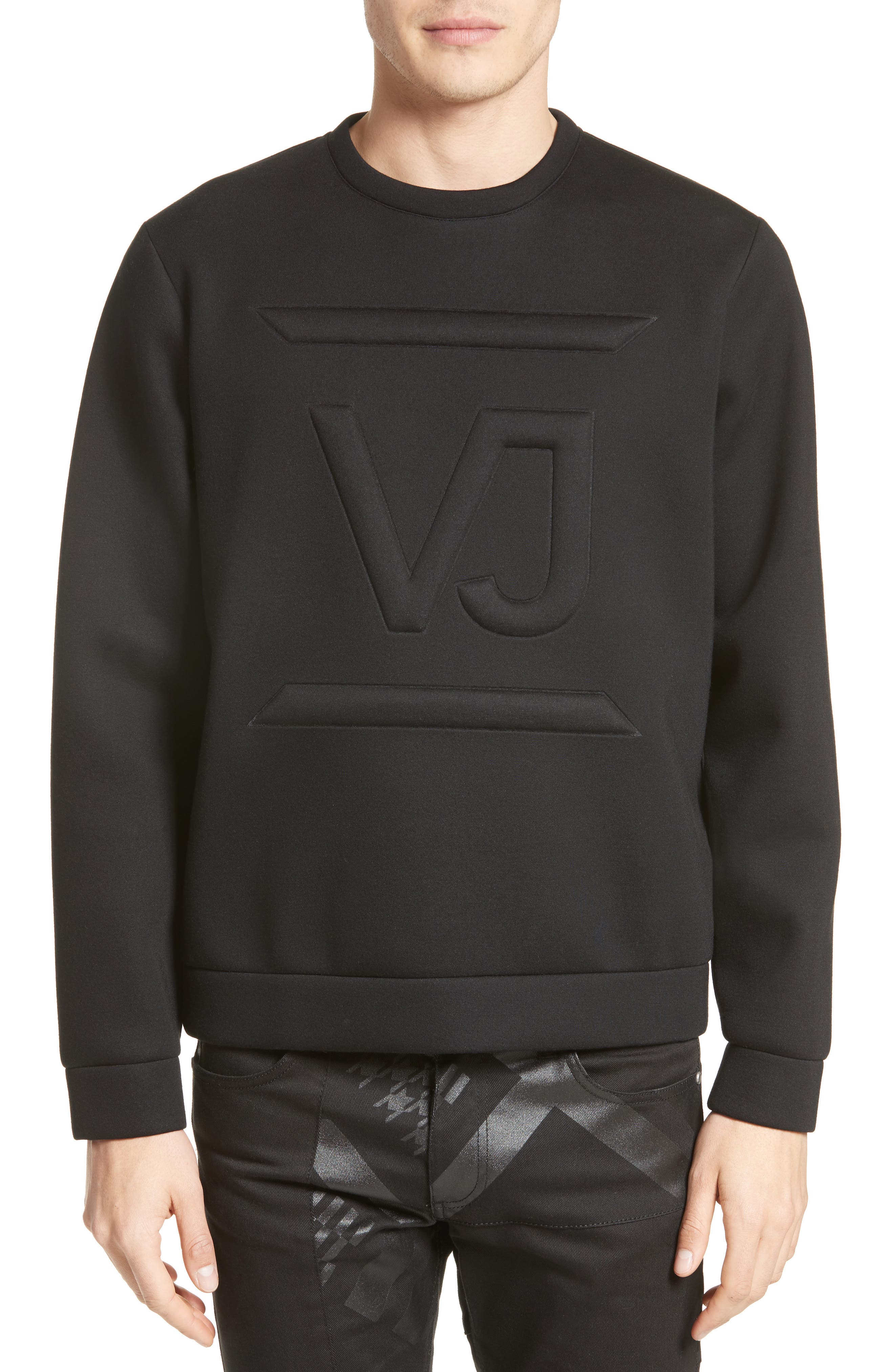 Main Image - Versace Jeans Large Logo Sweatshirt
