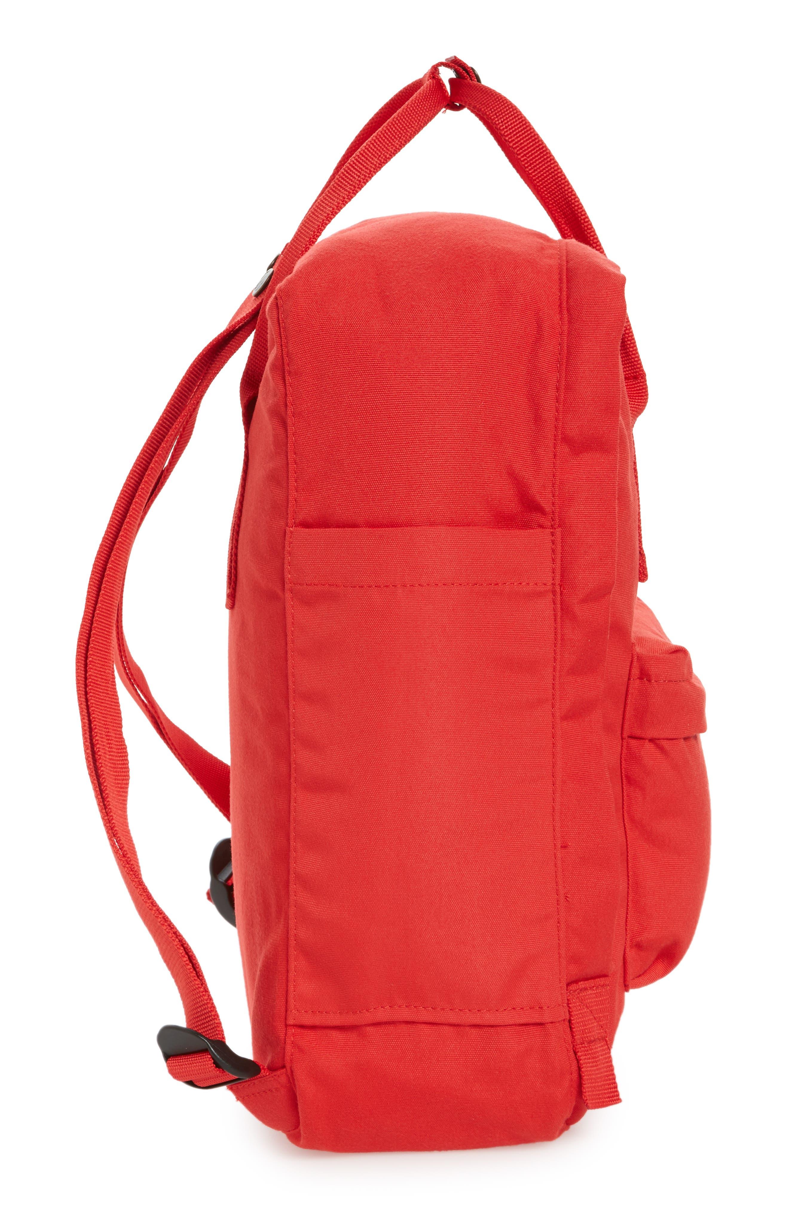 Re-Kånken Water Resistant Backpack,                             Alternate thumbnail 5, color,                             Red