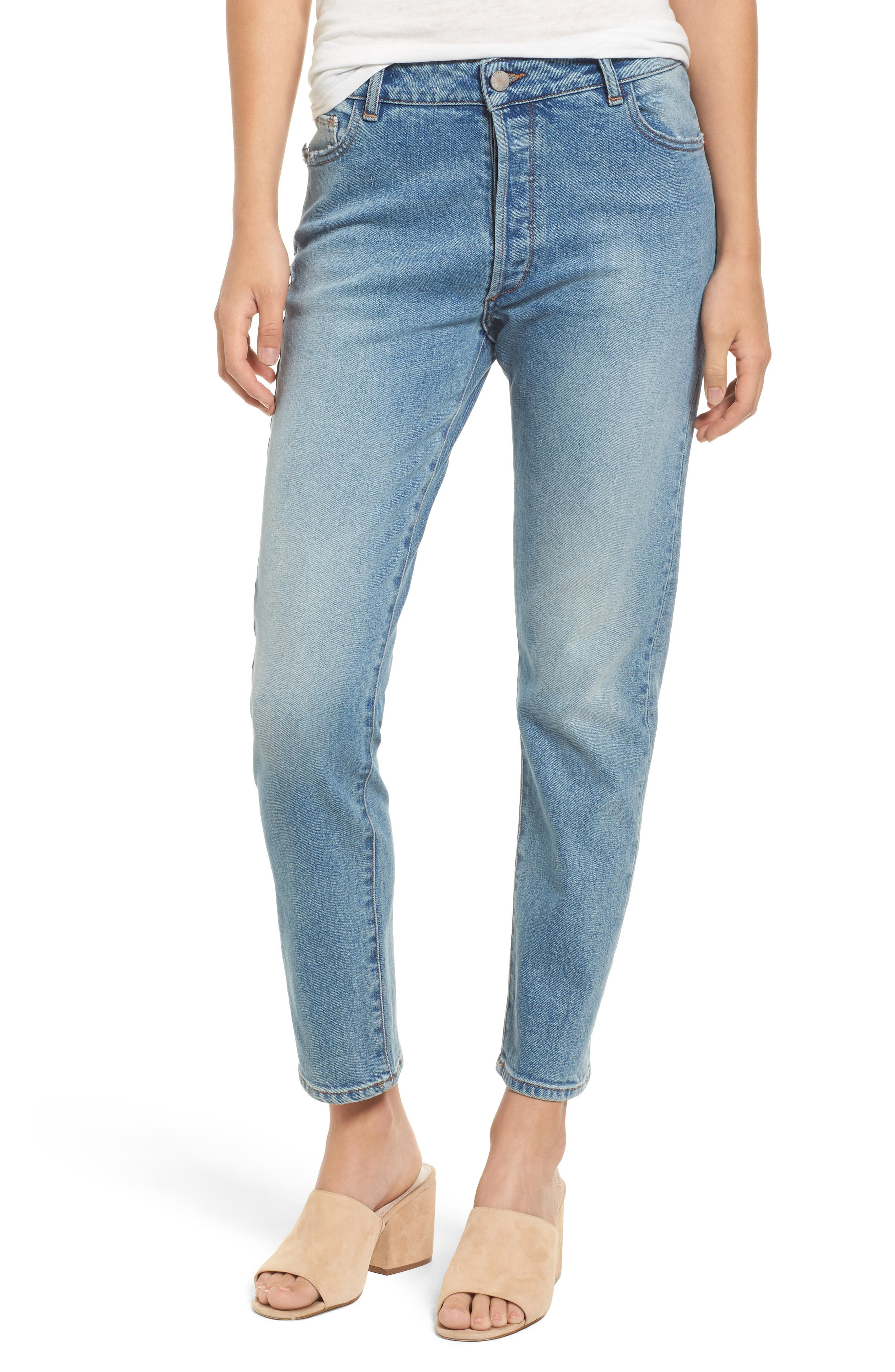 Alternate Image 1 Selected - DL1961 Bella High Waist Ankle Skinny Jeans (Sonata)