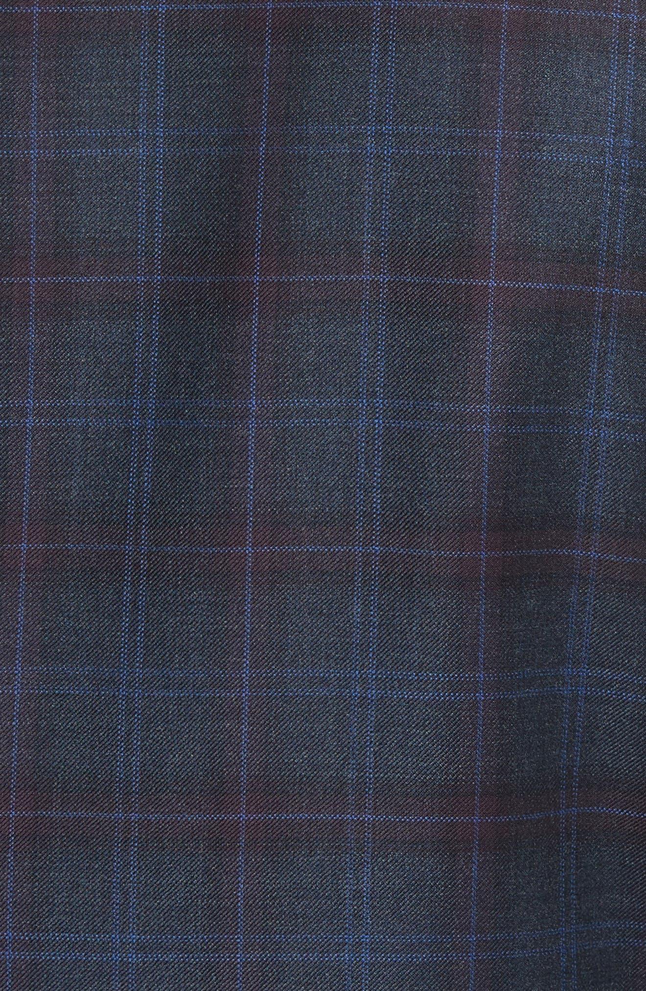 Alternate Image 5  - Canali Kei Classic Fit Plaid Wool Sport Coat