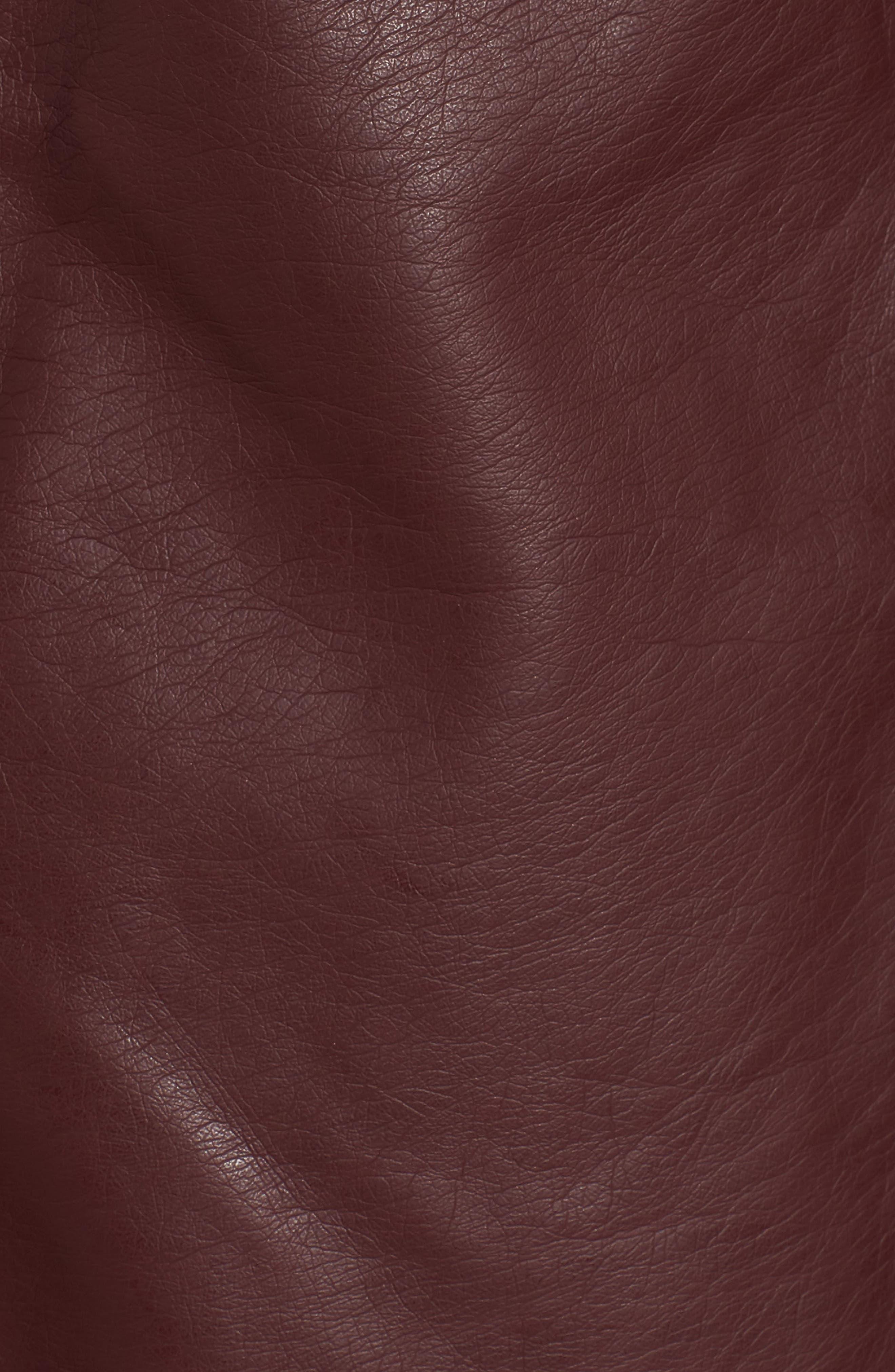 Alternate Image 5  - BB Dakota Gabrielle Faux Leather Asymmetrical Jacket