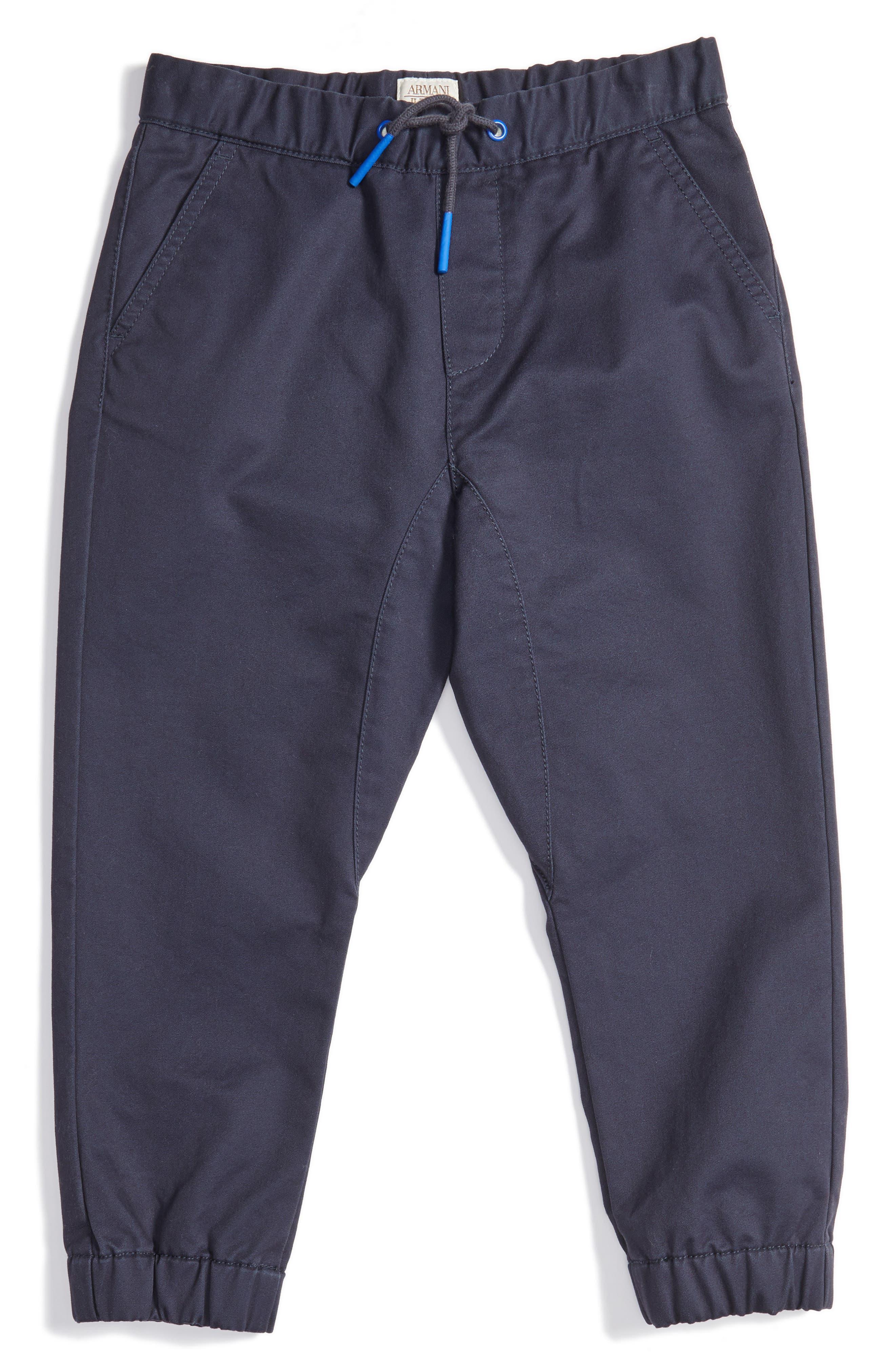 ARMANI JUNIOR Cotton Twill Jogger Pants