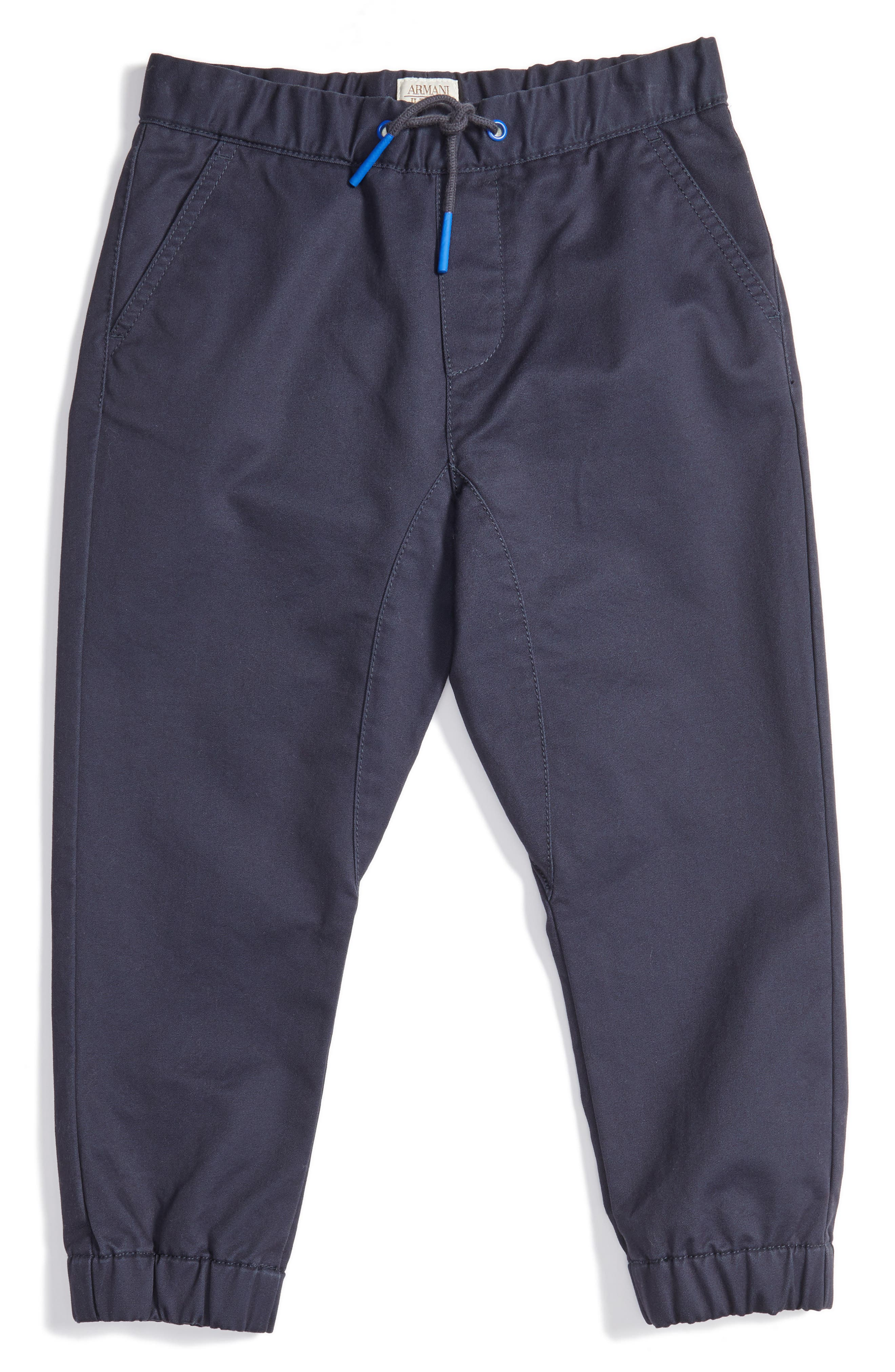 Cotton Twill Jogger Pants,                         Main,                         color, Navy