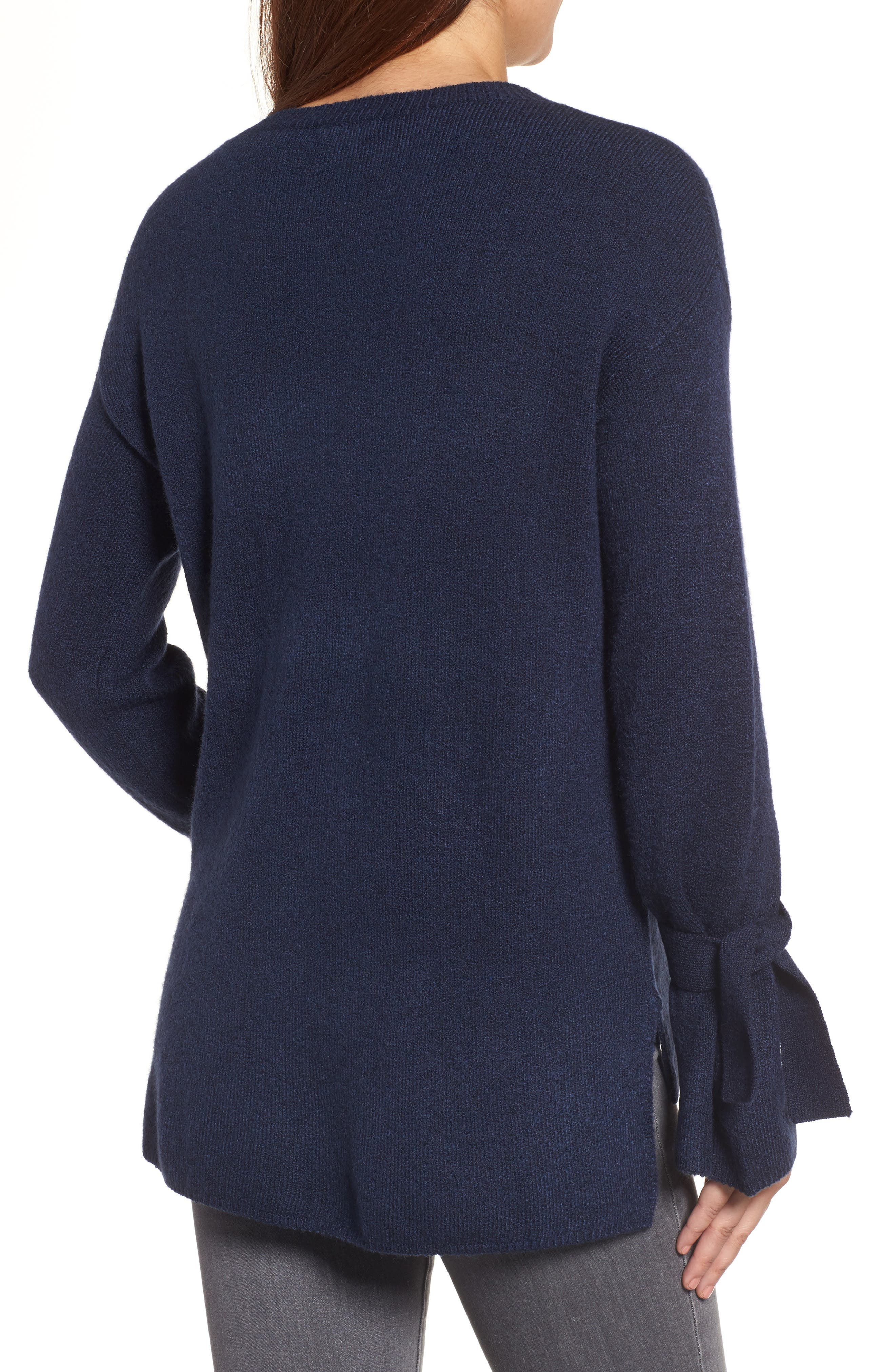Alternate Image 3  - Halogen® Tie Bell Sleeve Sweater (Regular & Petite)